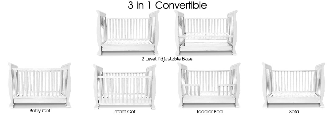 Free Baby Manuals Recall Wooden Sleigh 3in1 Cot By