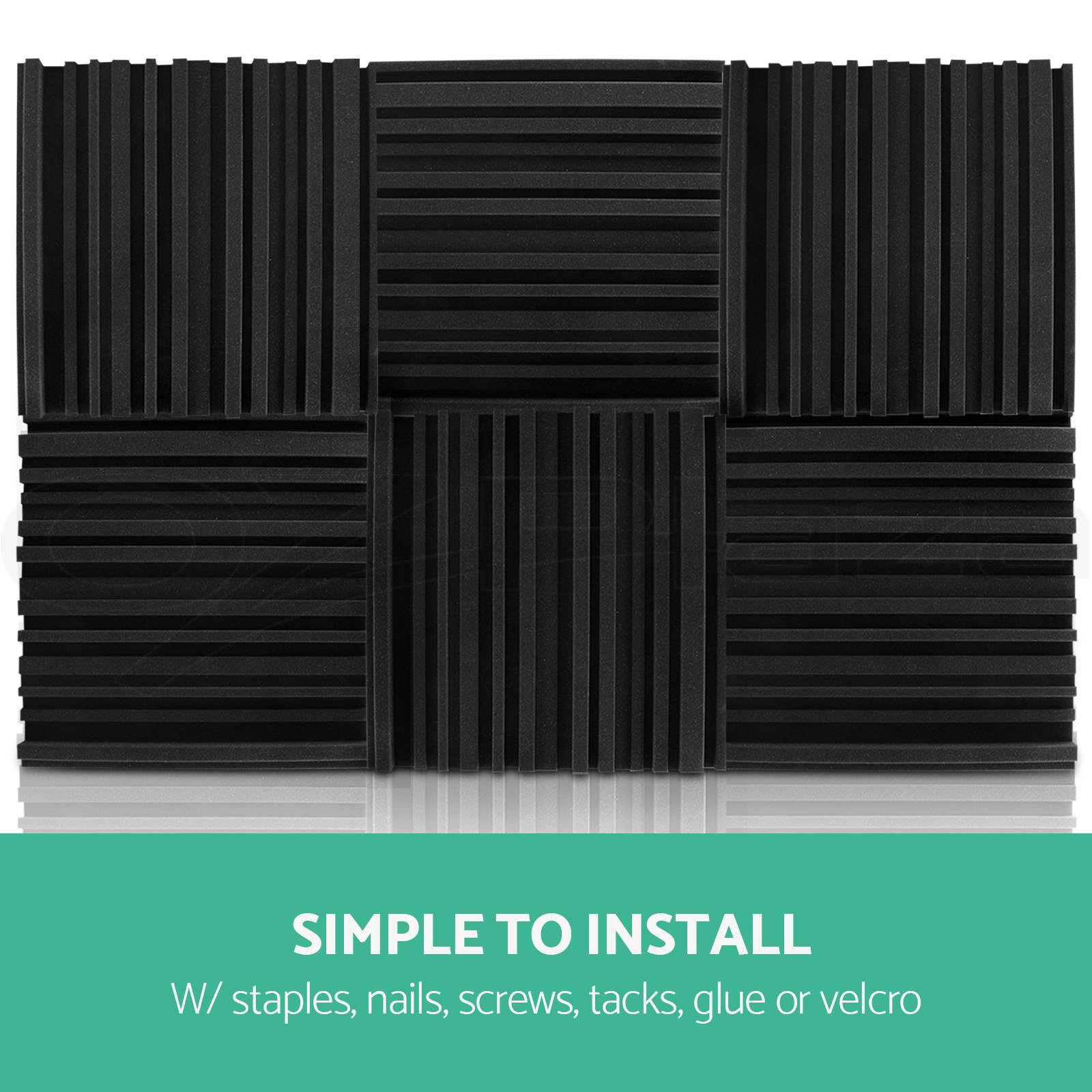 Acoustic Sound Batting : Studio acoustic foam treatment sound proofing panels
