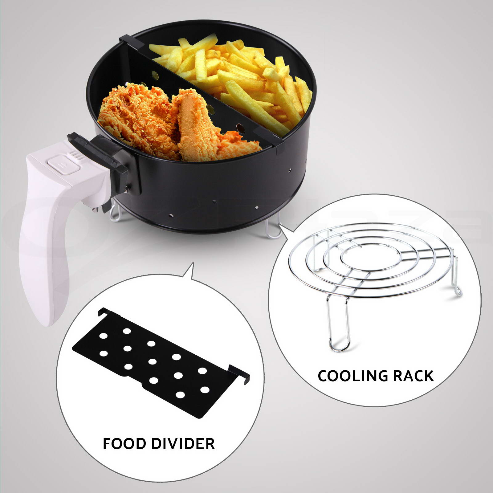 New Air Cooker ~ New air fryer star chef low fat oil free rapid healthy