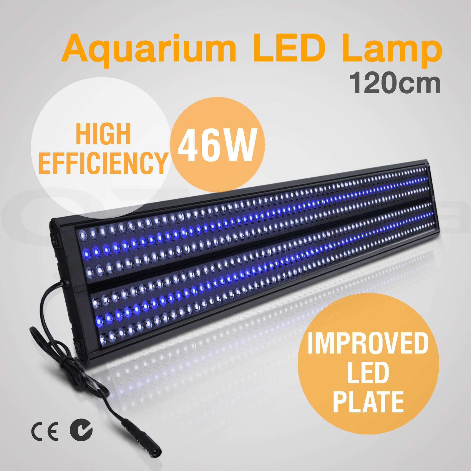 aquarium led t5 ho light marine reef fish coral aqua tank blue white 60 90 120cm ebay. Black Bedroom Furniture Sets. Home Design Ideas