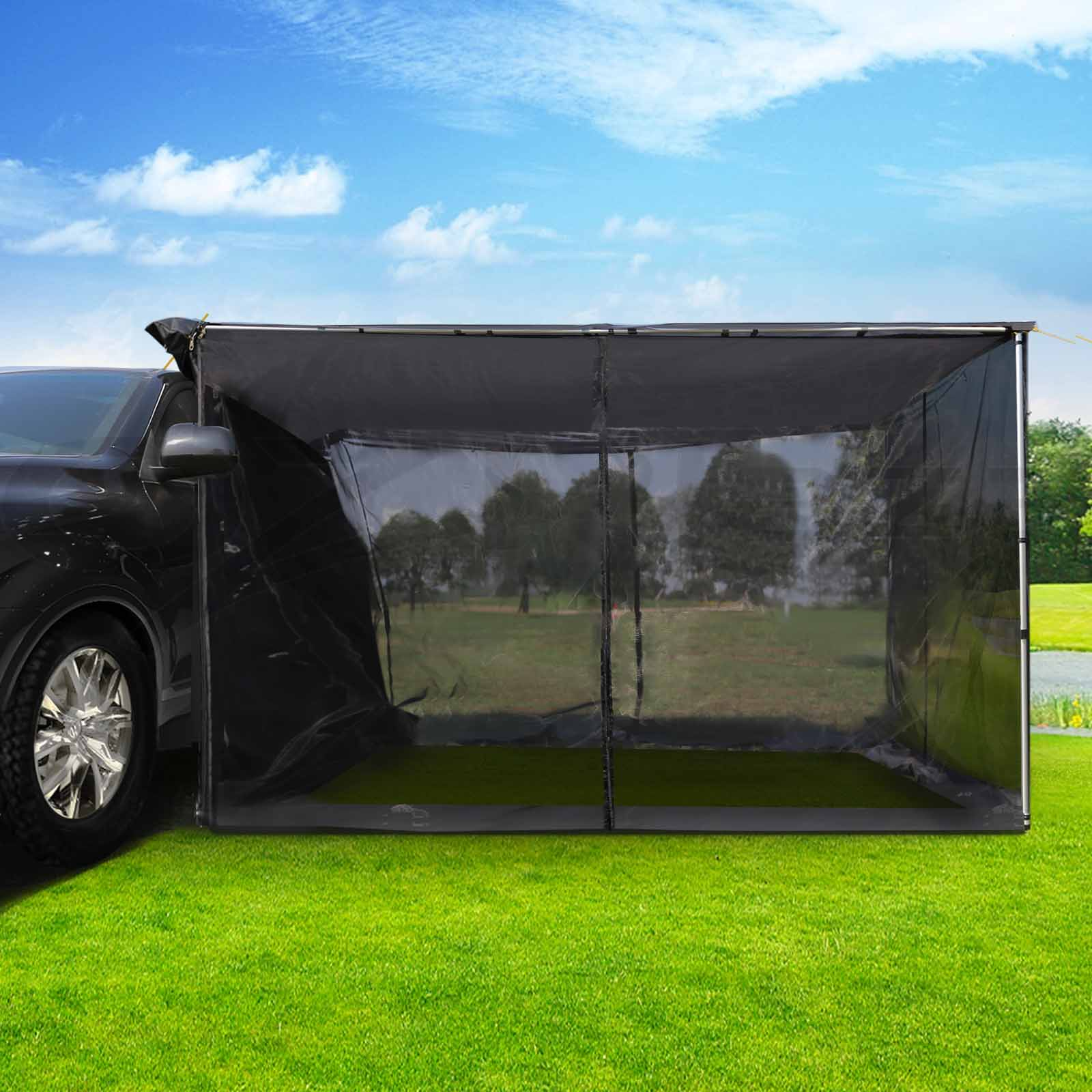 2 5x3m Car Side Awning With Fly Mesh Net Mountable Tent
