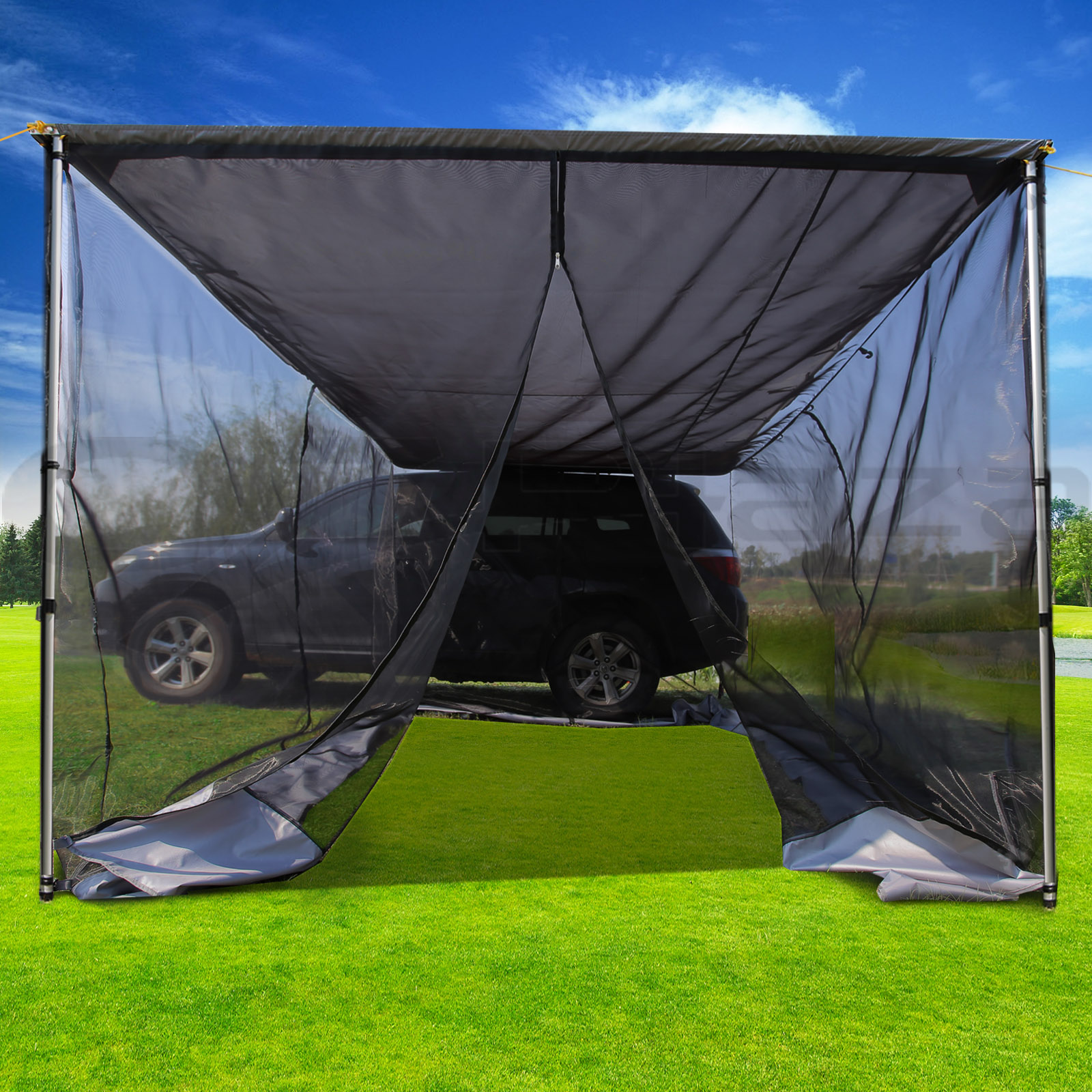 2M 3M CAR AWNING EXTENSION SIDE AWNING SUN SHADE CAMPER ...