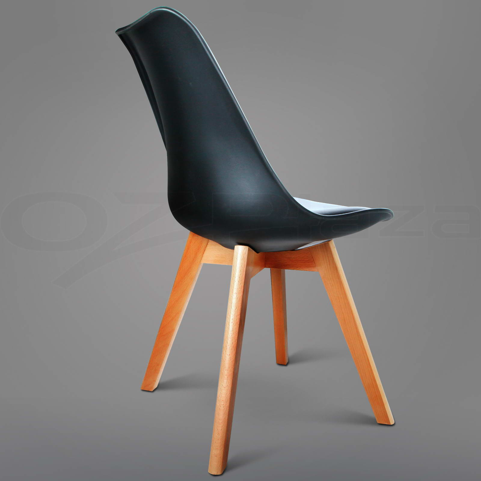 6 x padded retro replica eames eiffel dsw dining chairs cafe kitchen black ebay - Eames eiffel chair reproduction ...