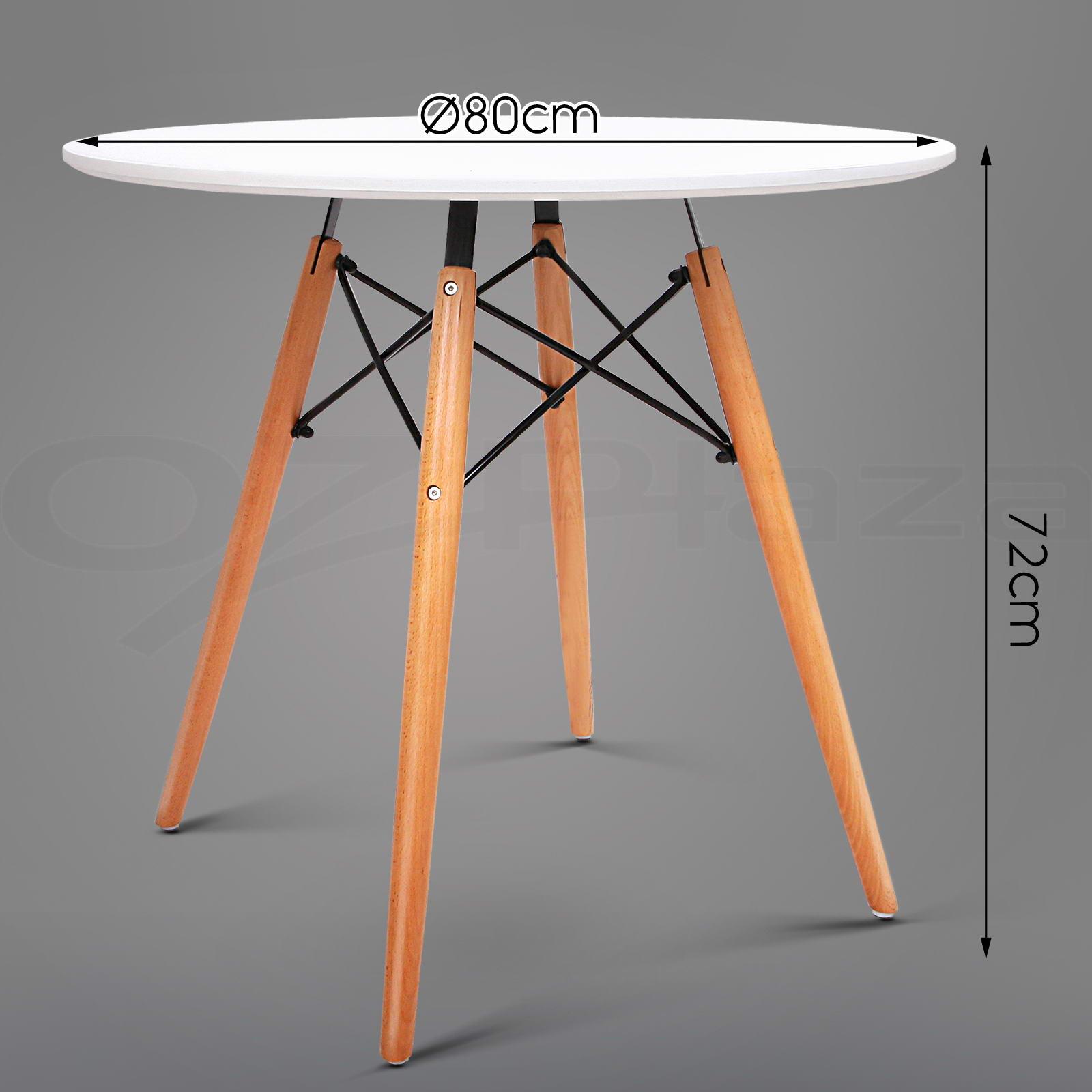 Dining Table 4 x Eames Chair Set Replica Eiffel DSW  : BA BB DSW TABLE80 WH P10 from www.ebay.com.au size 1600 x 1600 jpeg 149kB