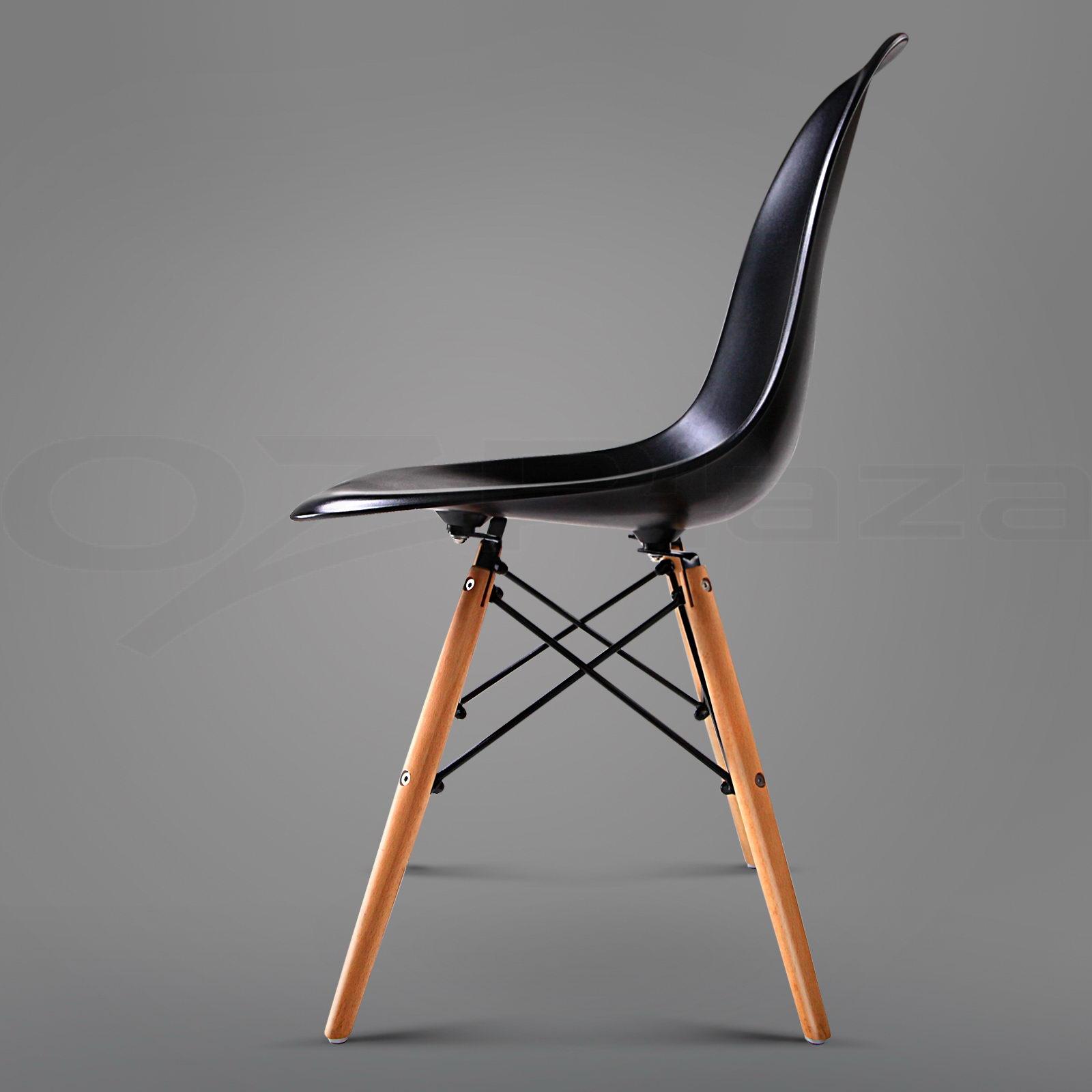 6 x retro replica eames eiffel dsw dining chair daw armchair beech wood abs - Eames dsw eiffel chair ...