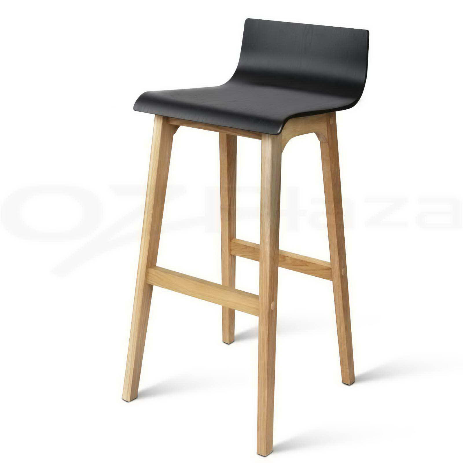 Marvelous photograph of 2x Oak Wood Bar Stools Wooden Barstool Dining Chairs Kitchen Plywood  with #946F37 color and 1600x1600 pixels
