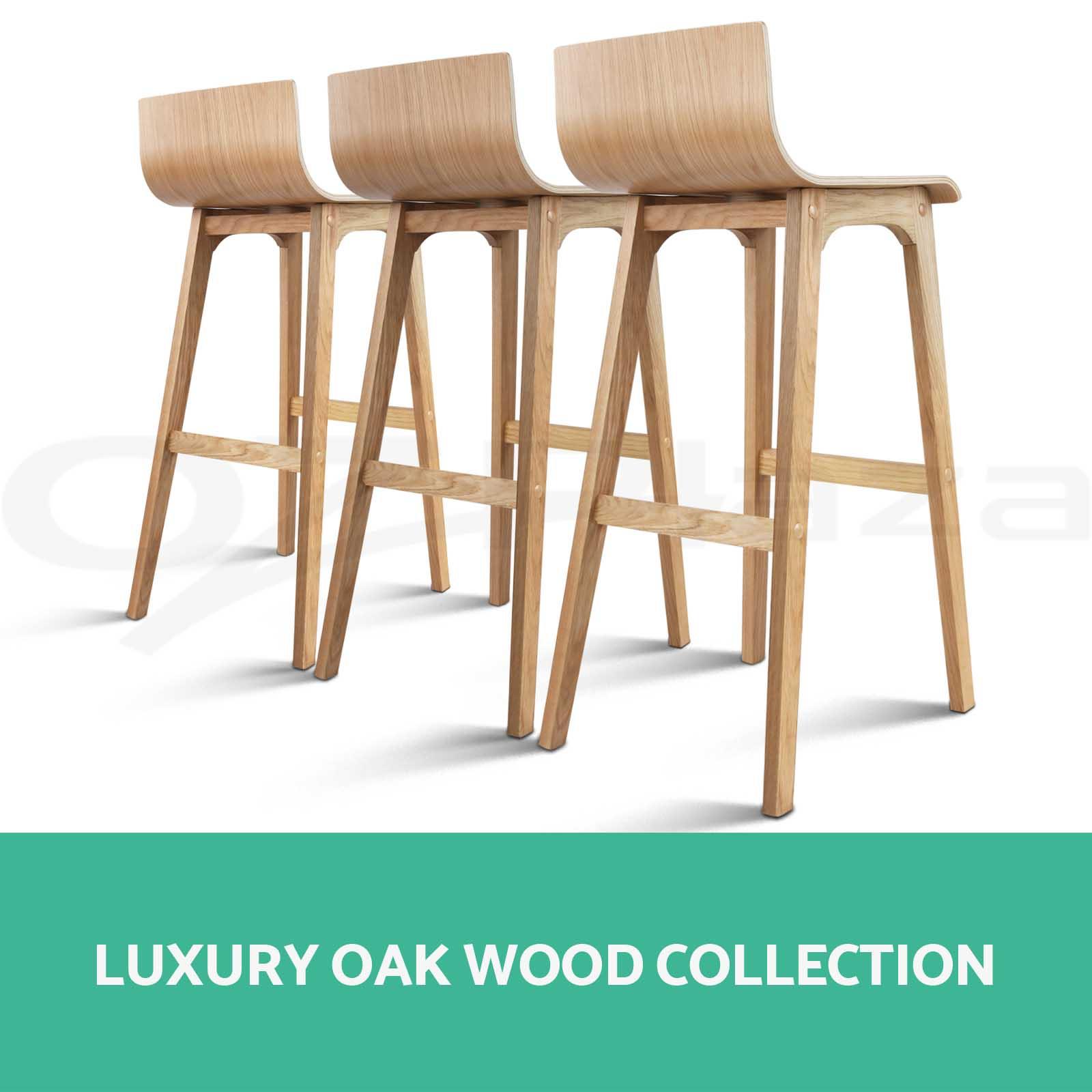 Oak Wooden Stool ~ Oak wood bar stool wooden dining chair kitchen side
