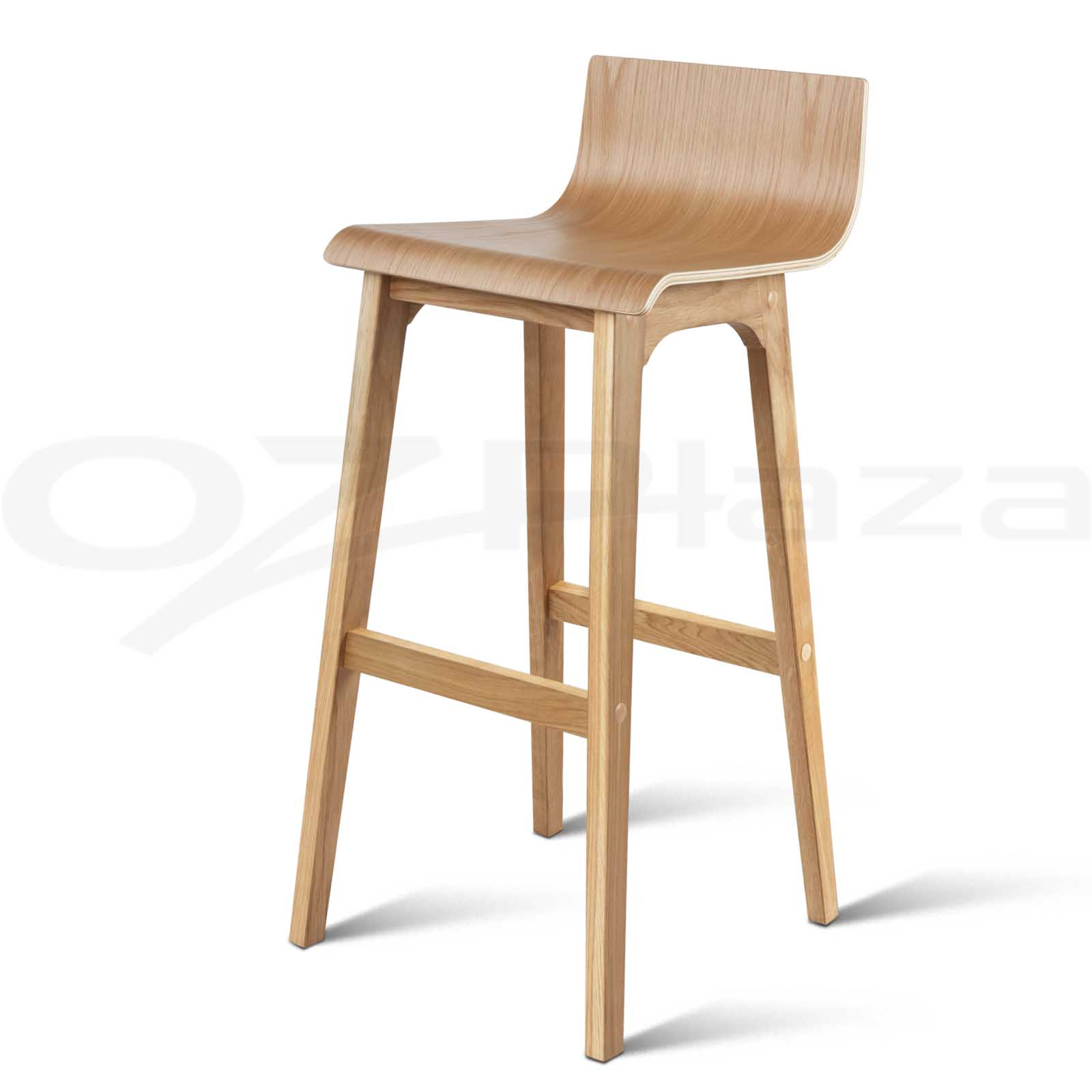Marvelous photograph of 2x Oak Wood Bar Stool Wooden Dining Chair Kitchen Side Plywood Natural  with #4D301B color and 1600x1600 pixels