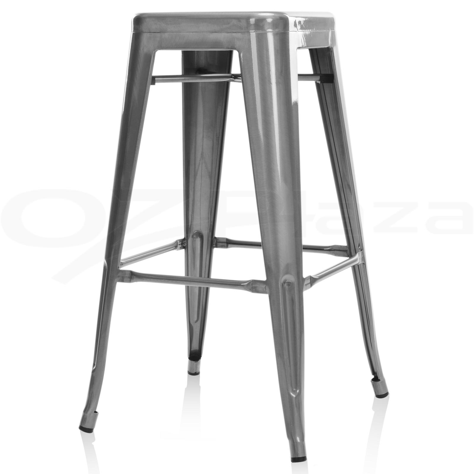 4x replica xavier tolix bar stool metal steel kitchen cafe for Tolix stuhl replik