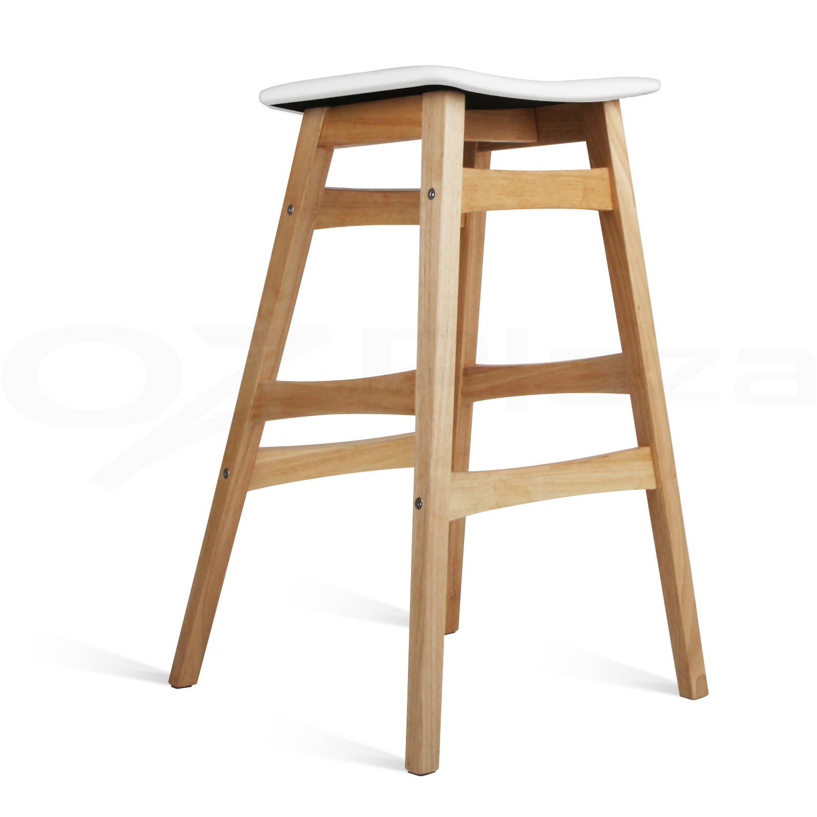 4x Rubber Wood Bar Stool Wooden Barstool Dining Chair