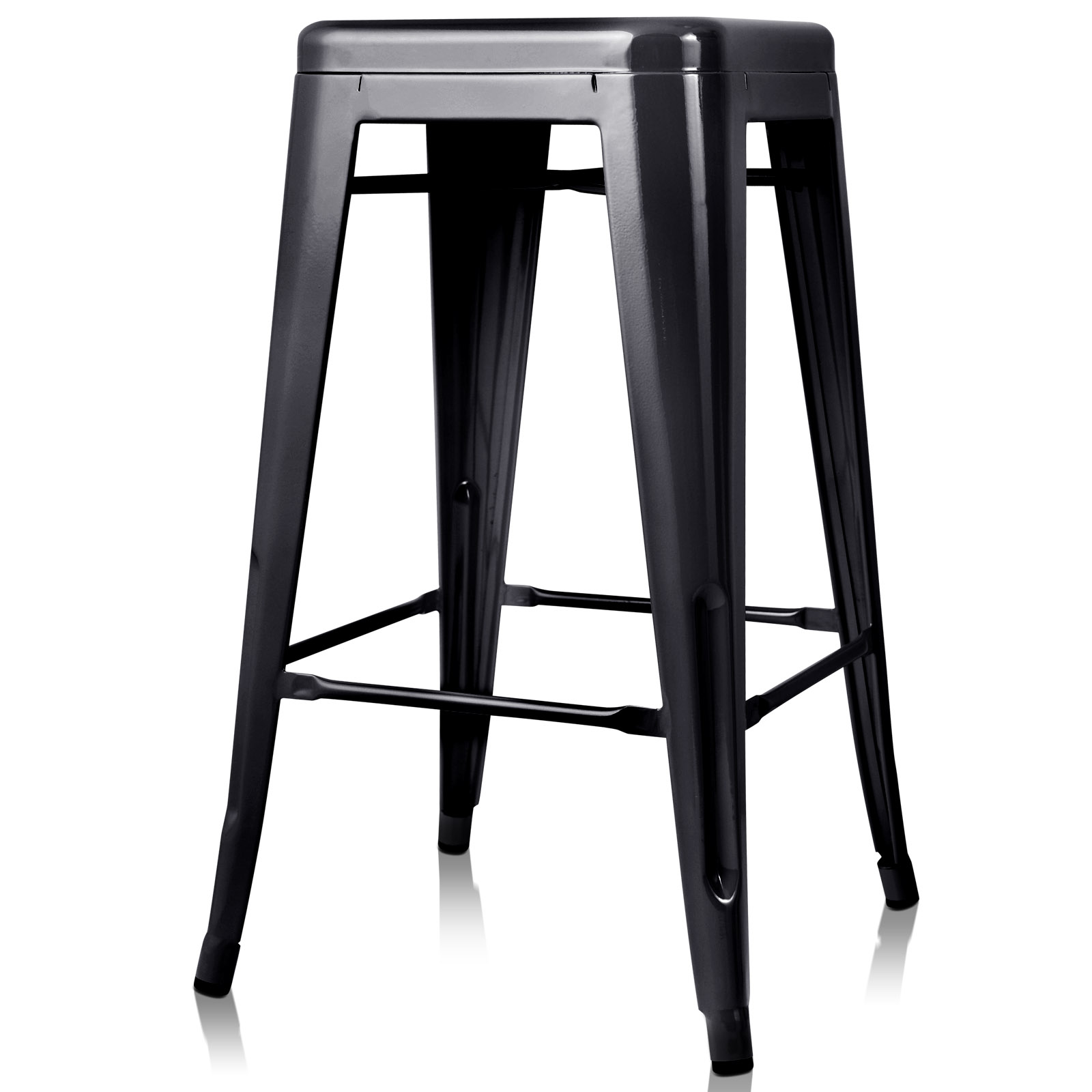 4x Replica Tolix Xavier Bar Stool Metal Steel Kitchen Cafe