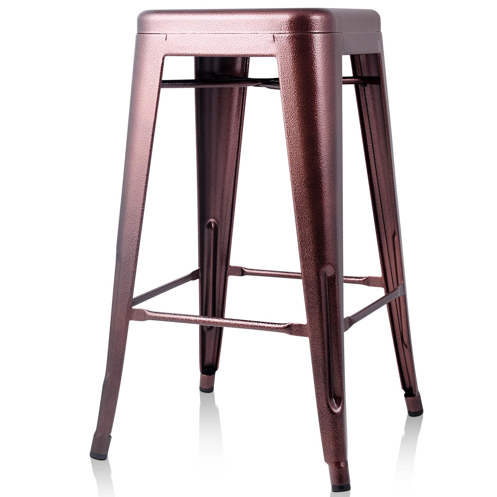 4x replica tolix xavier bar stool metal steel kitchen cafe for Tolix stuhl replik