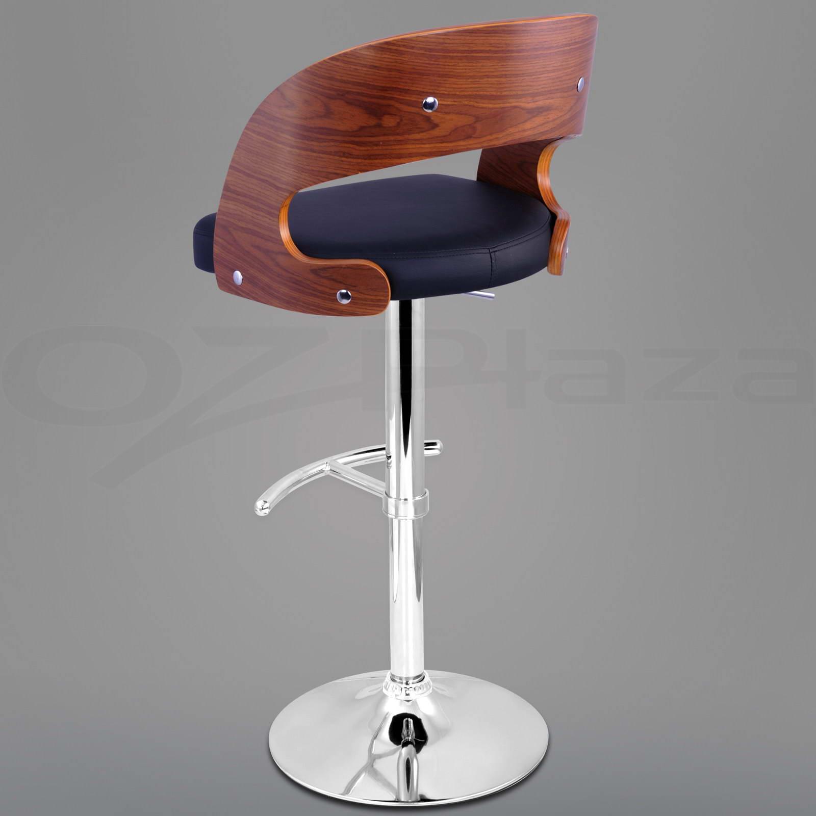 4X Wooden BAR Stool Kitchen Chair Dining Black White PU  : BA TW 8065 BKX4 VAR P04 from www.ebay.com.au size 1600 x 1600 jpeg 94kB
