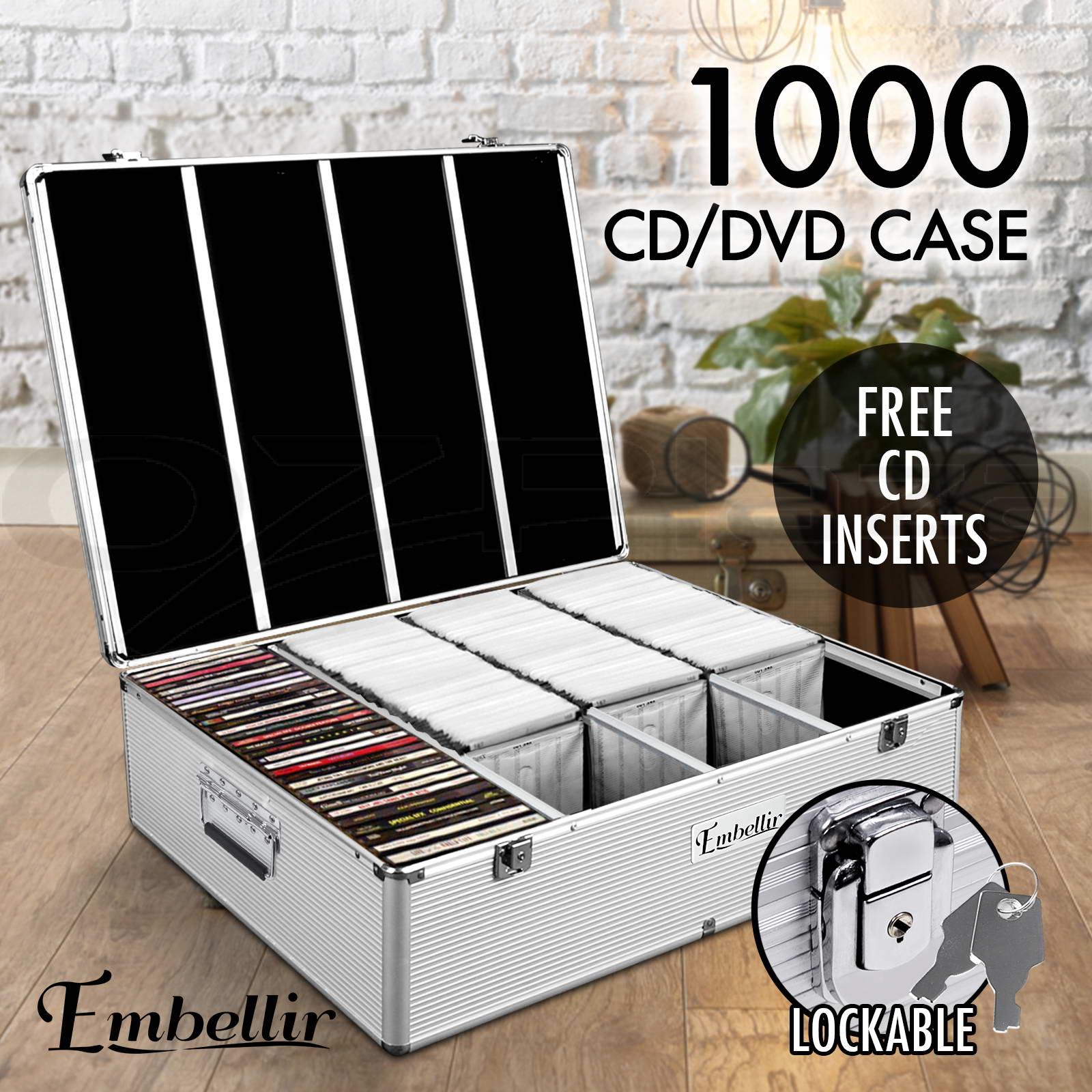 Aluminium Cd Case Dvd Bluray Lock Storage Case Box 240 500 & Dvd Folders Storage - Listitdallas