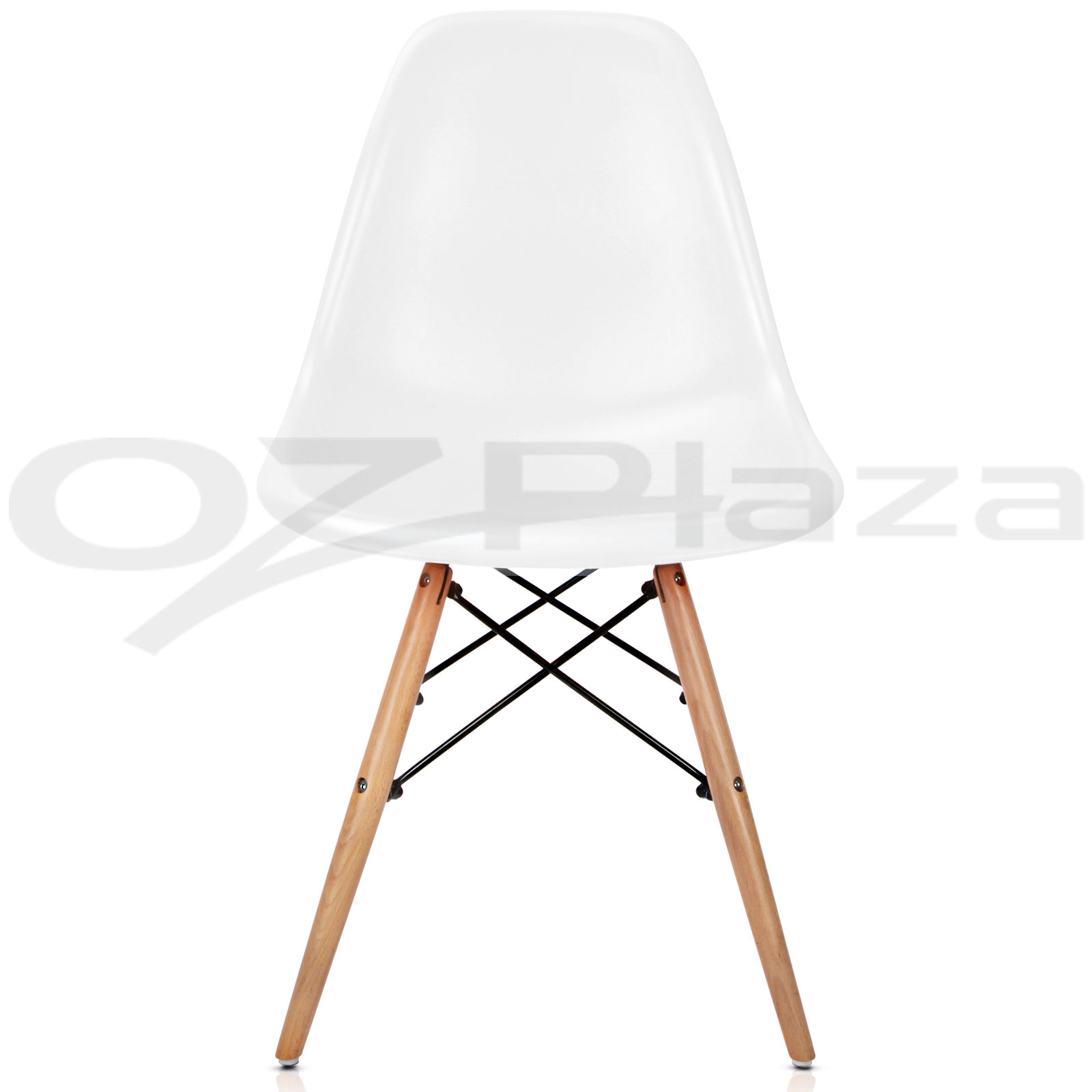 1x wooden dining table 4x eames replica dsw retro dining chairs wh 2