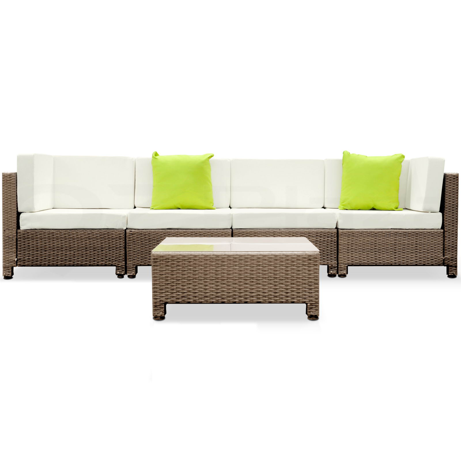 black brown outdoor furniture wicker pe rattan set garden lounge sofa bali ebay. Black Bedroom Furniture Sets. Home Design Ideas