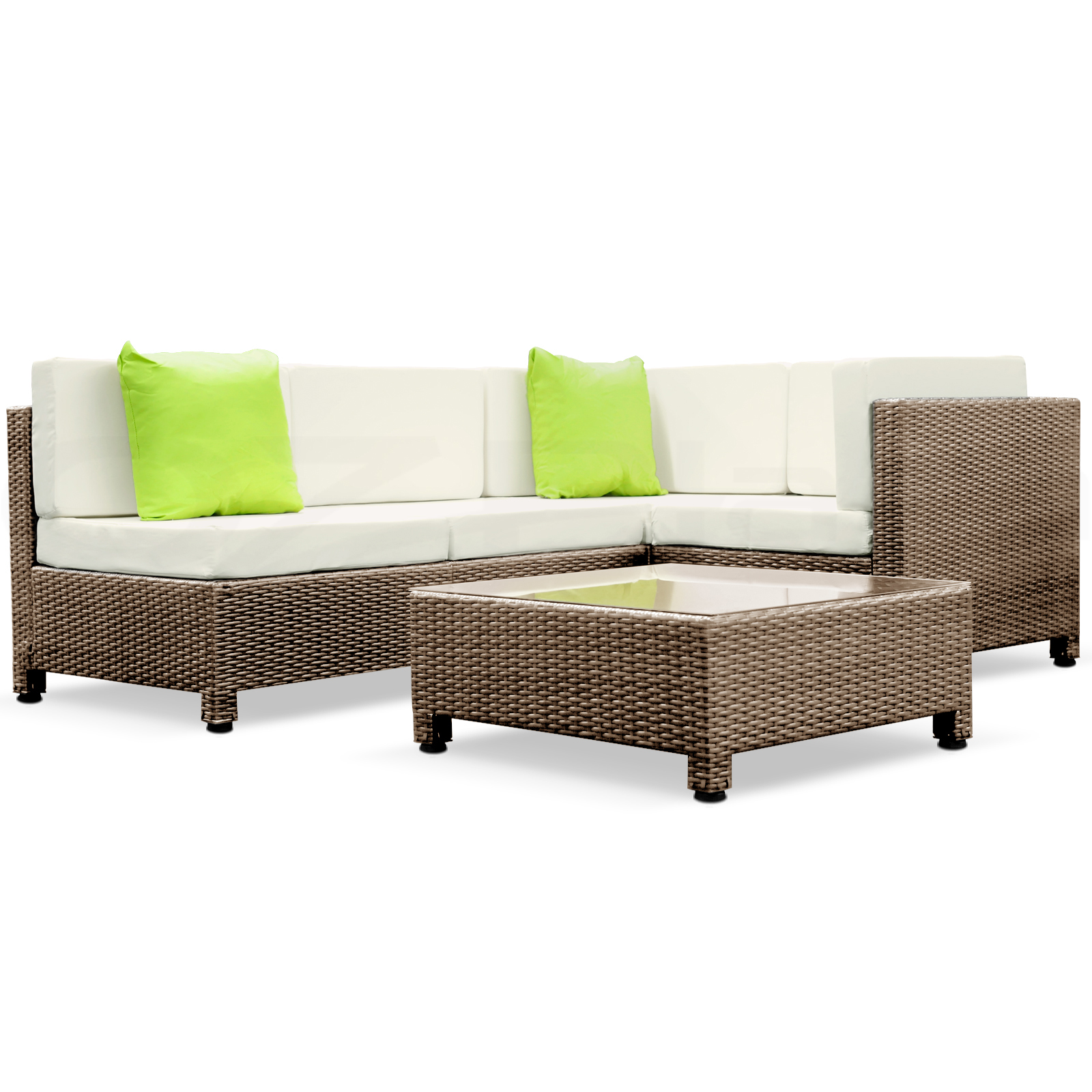 Brown Outdoor Furniture Wicker 5pc PE Rattan SET Garden ...