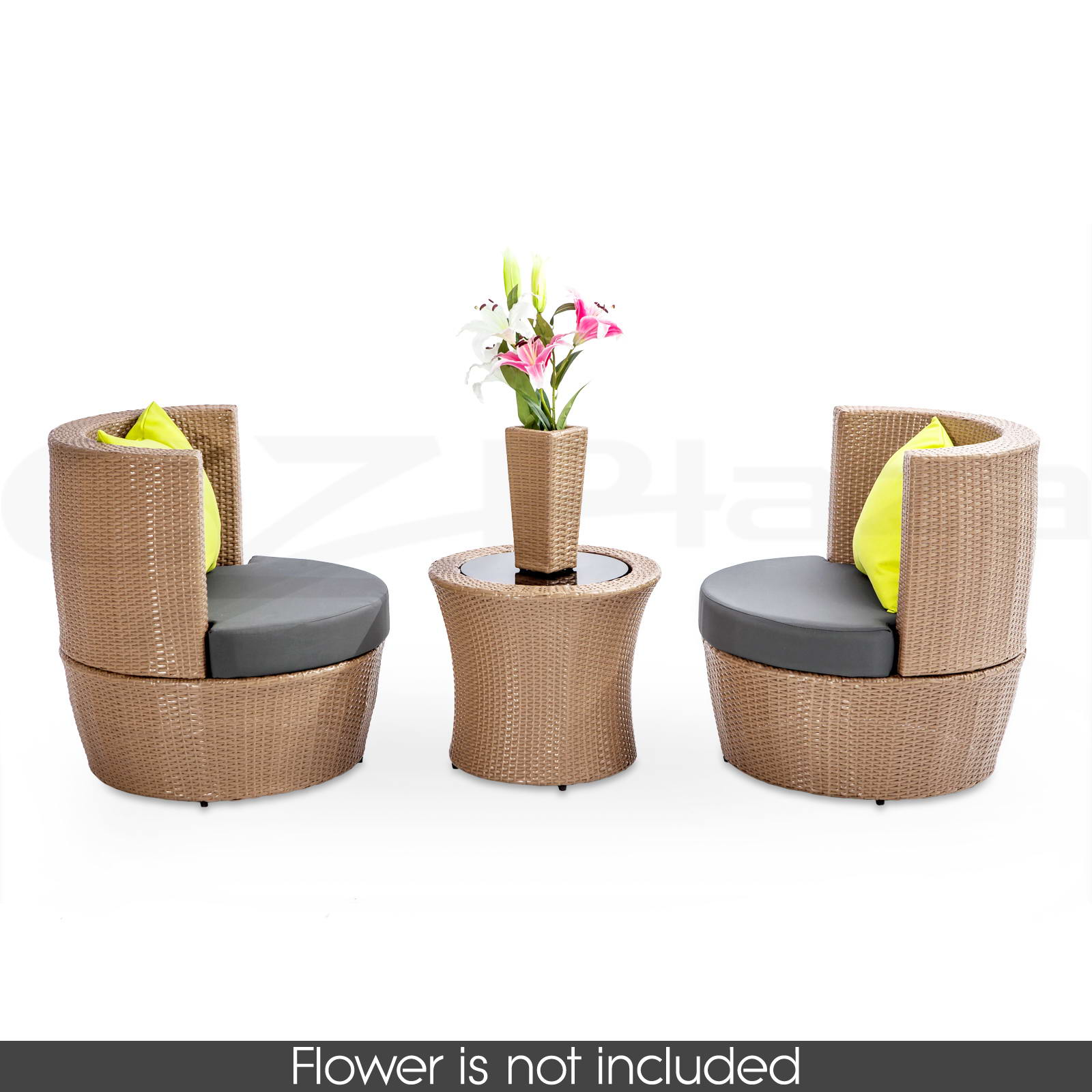 Black brown outdoor furniture wicker pe rattan garden for Lounge garden furniture sets
