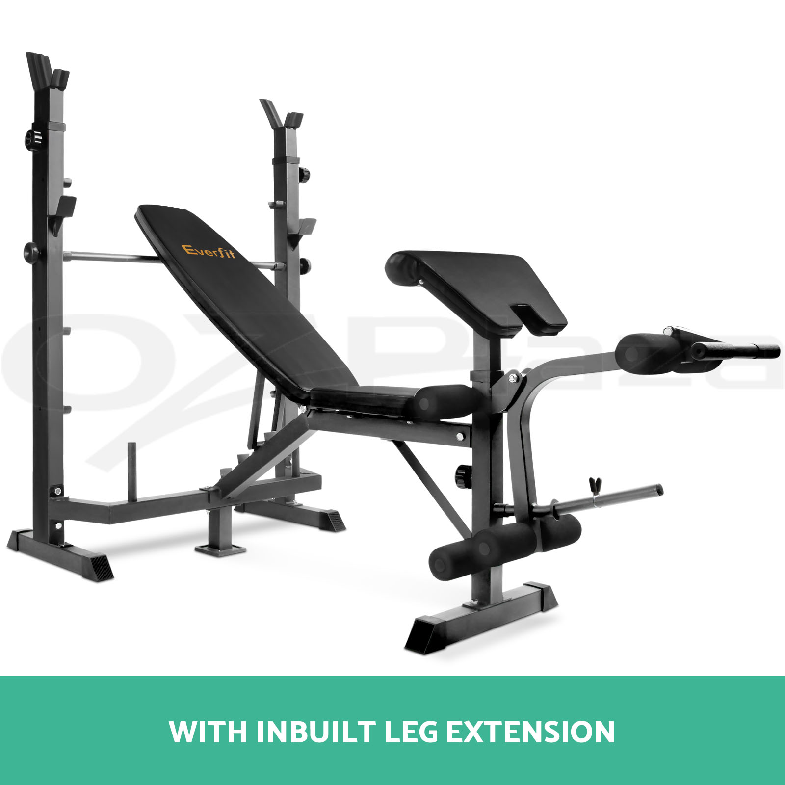 Multi Station Weight Bench Gym Station 38 108kg Barbell Set Plates Fitness Ebay