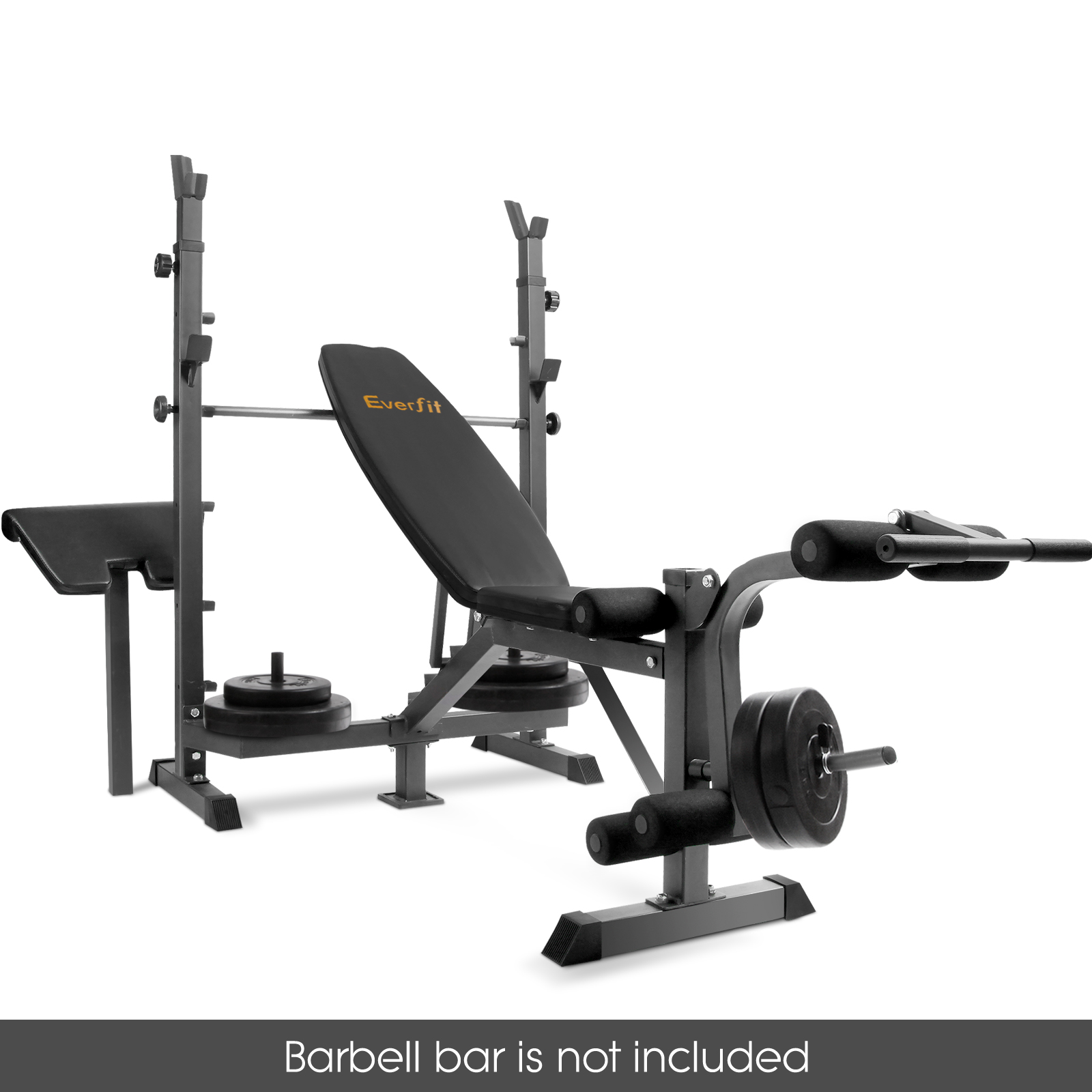 Multi Station Weight Bench Gym Station Plates Press