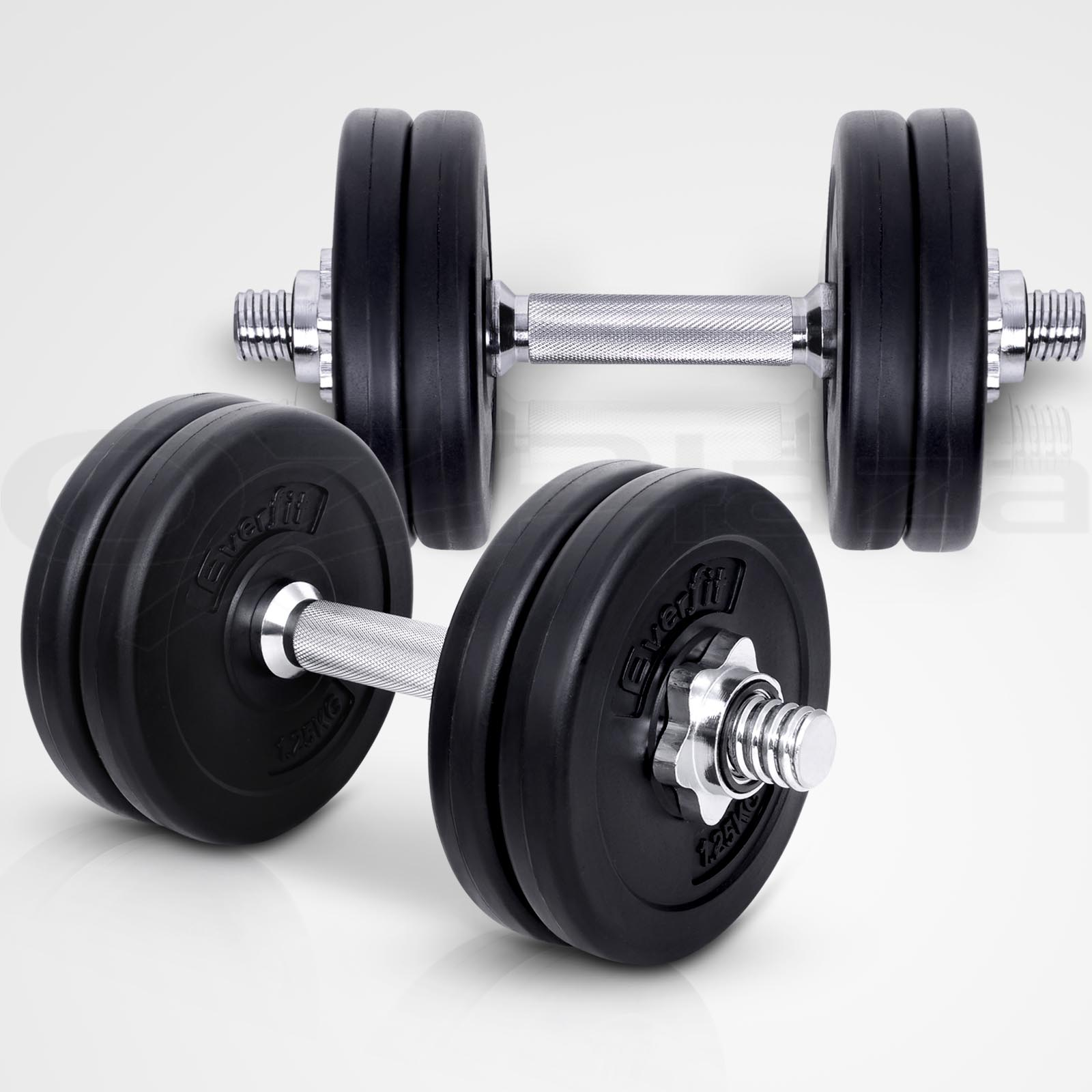 Exercise Barbell Dumbbell: Everfit Dumbbell Set Weight Dumbbells Plates Home Gym