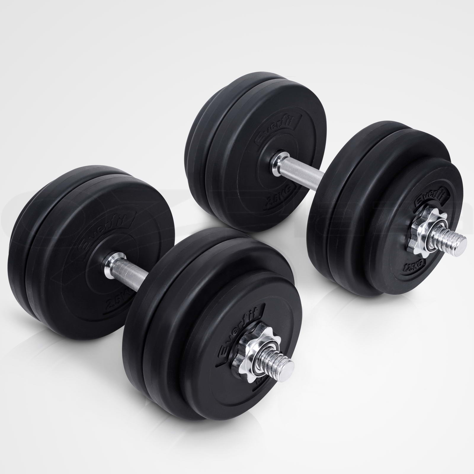 Everfit Dumbbell Set Weight Dumbbells Plates Home Gym ...