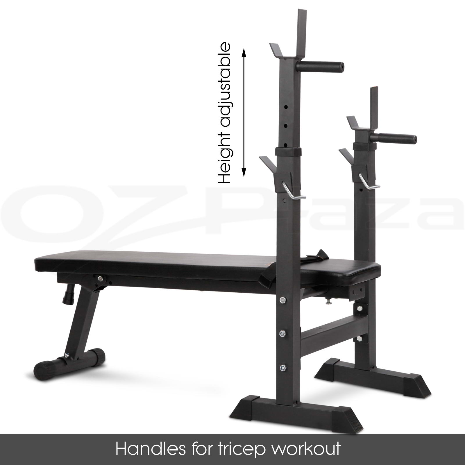 Adjustable Weight Bench Barbell Set Fitness Gym Flat