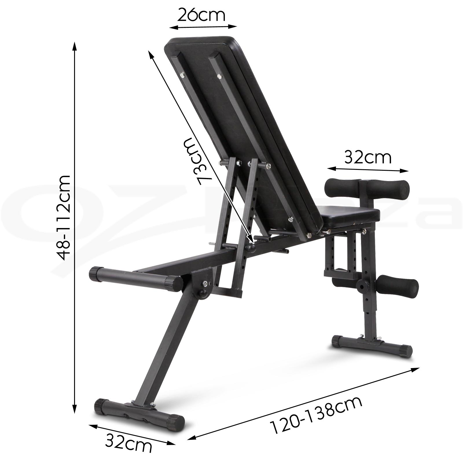 Adjustable weight fid bench flat incline decline home gym exercise fitness situp ebay - Weight bench incline decline ...