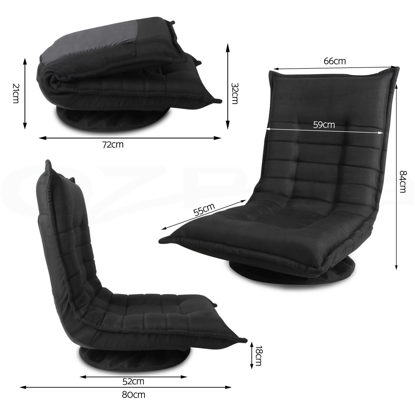 Floor Sofa Lounge Tatami Chair Swivel Seat Foldable Chaise