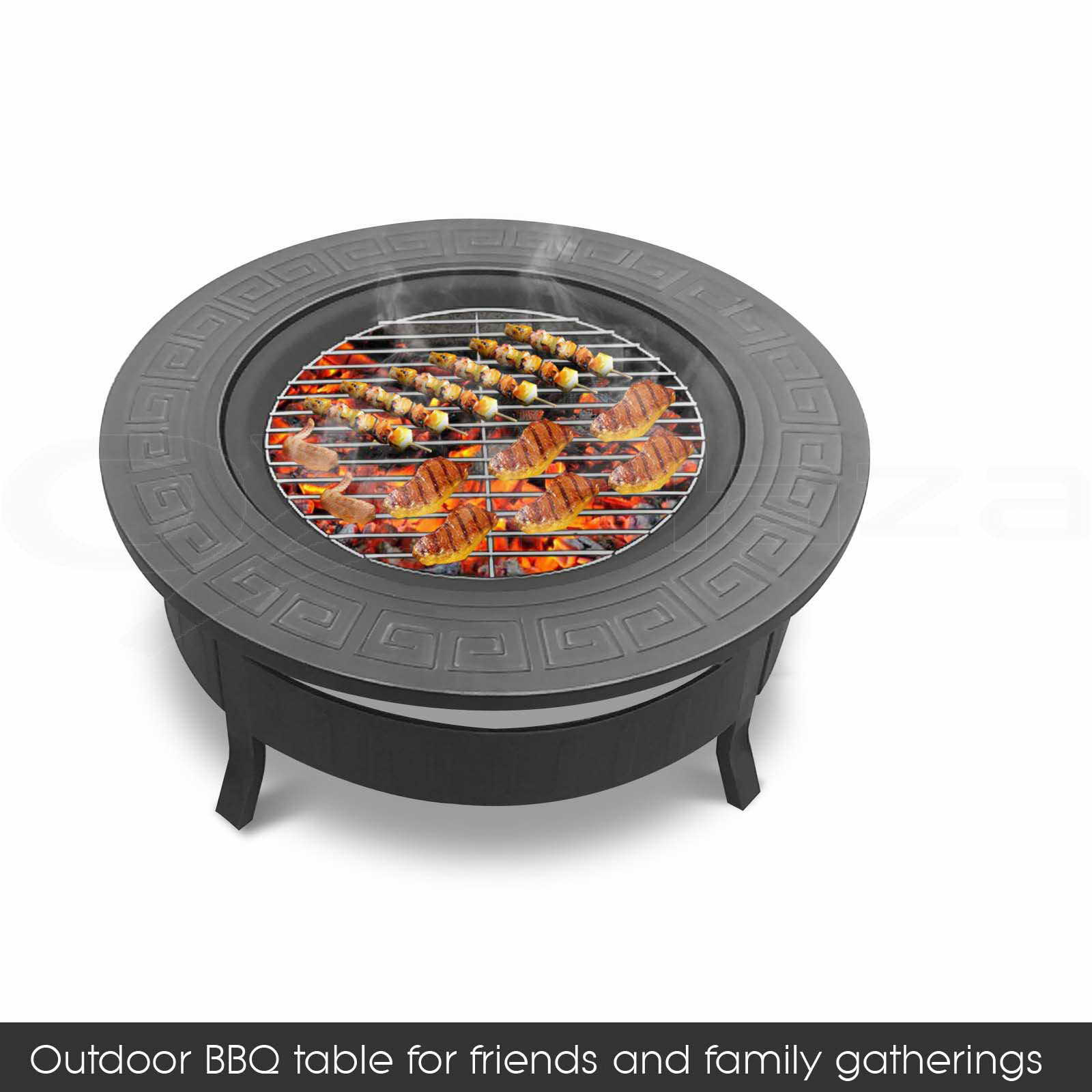 Outdoor Fire Pit Bbq Table Grill Garden Patio Camping