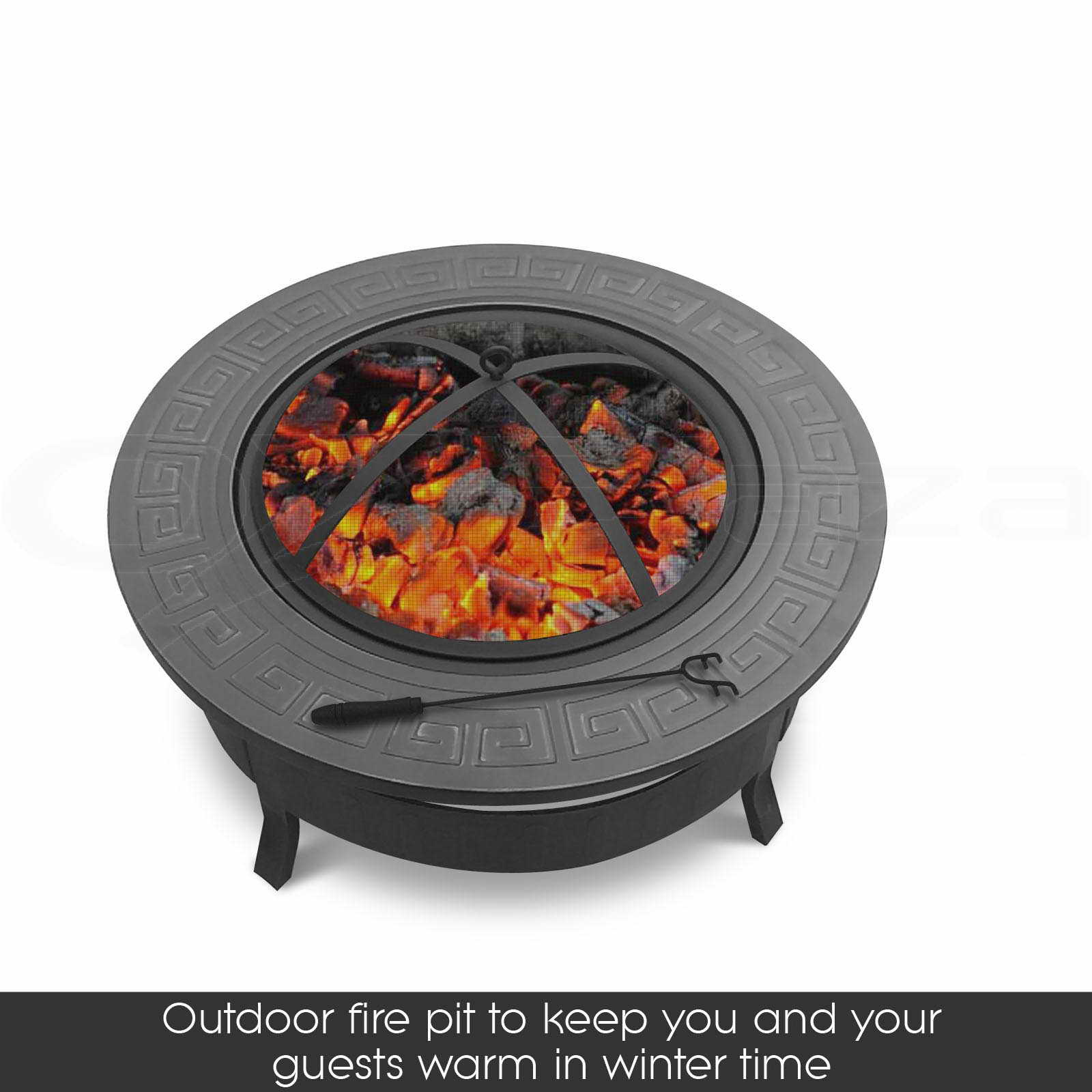 Outdoor fire pit bbq table grill garden patio camping for Fireplace and bbq