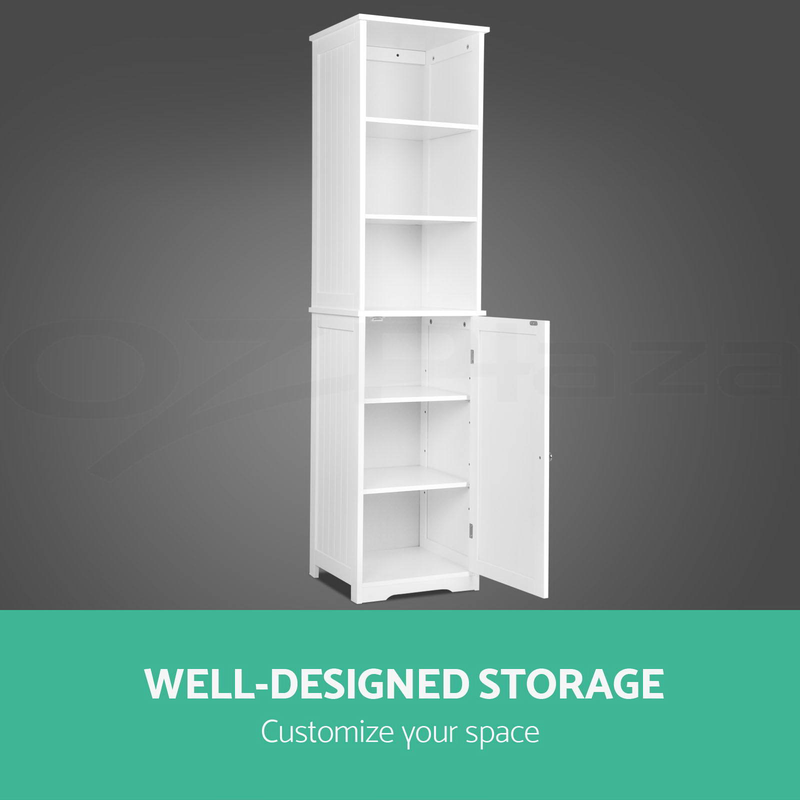 Bathroom tallboy furniture toilet storage cabinet laundry for Bathroom cabinets ebay australia