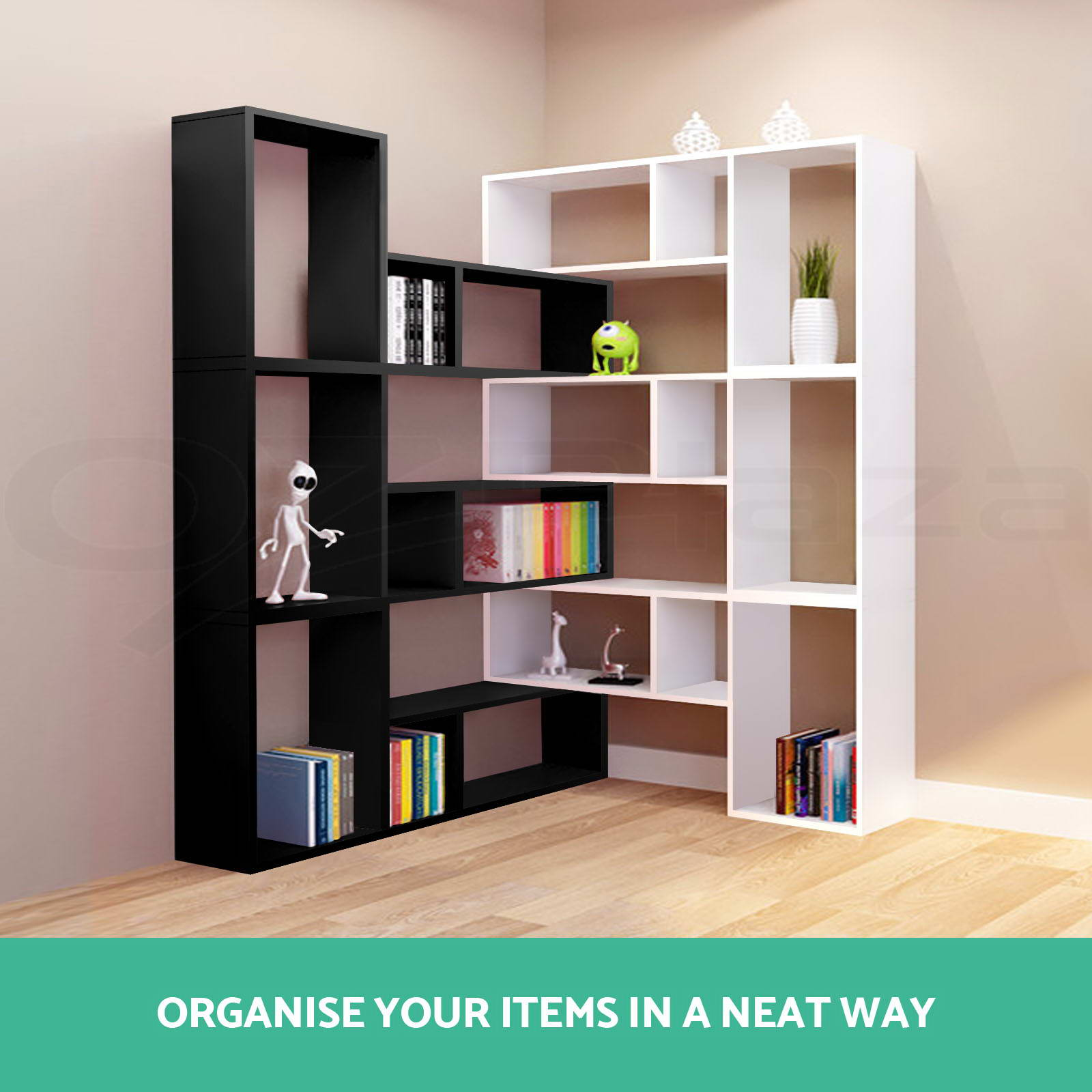 Display L Shape Cube Shelf Diy Sidetable Cabinet Storage