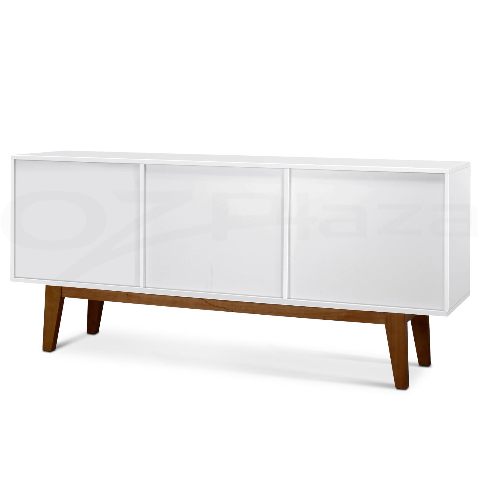 White Buffet Table : buffet sideboard scandinavian retro table cabinet cupboard matt white ...