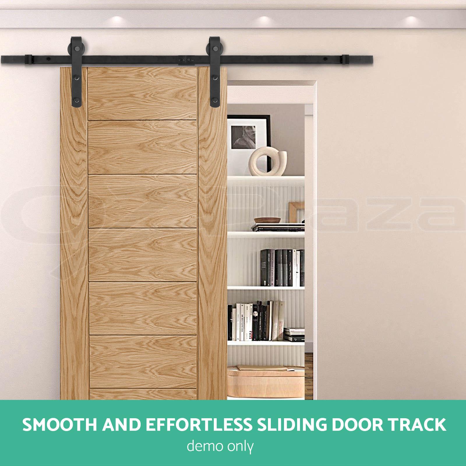 2m Sliding Barn Door Hardware Track Set Home Office Bedroom Interior Closet