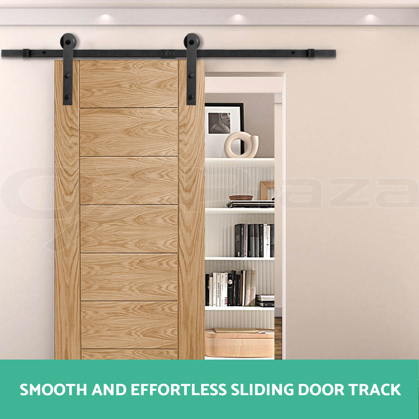 2m sliding barn door hardware track set home office for Barn doors for home office