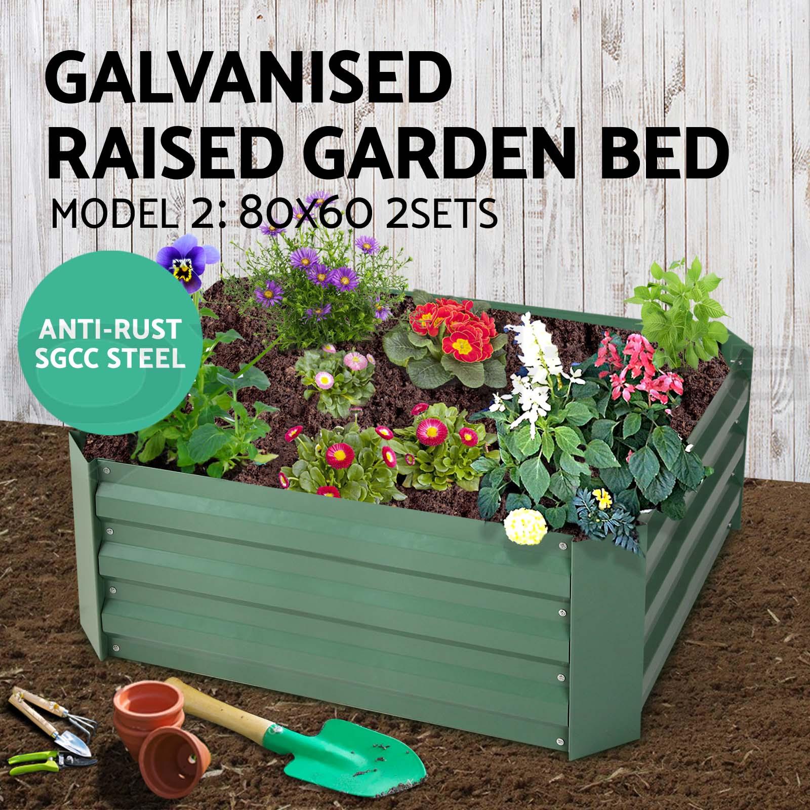 Galvanised Steel Raised Garden Bed Instant Planter Square