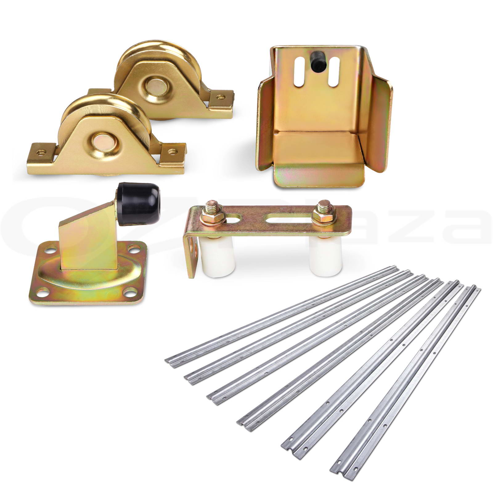 Sliding gate hardware accessories kit track wheels stopper