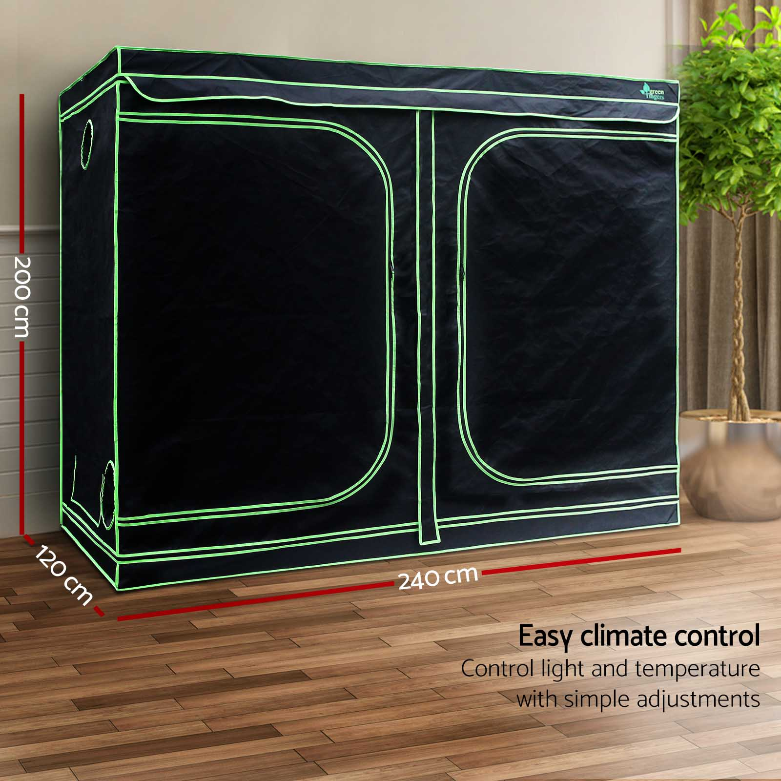 Greenfingers Grow Tent Hydroponics Plant Tarps Shelves Kit Metal Frame
