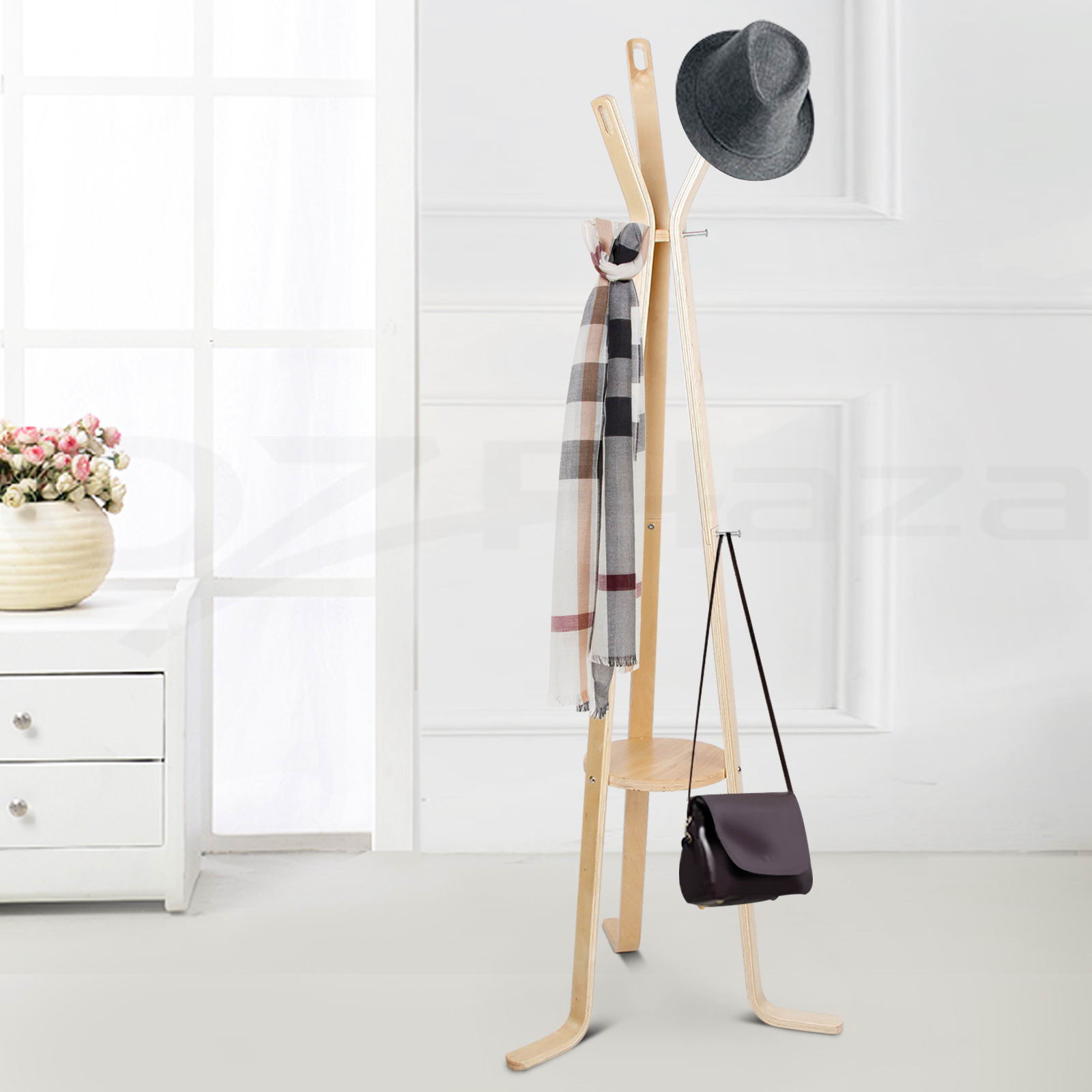 metal accordion coat rack