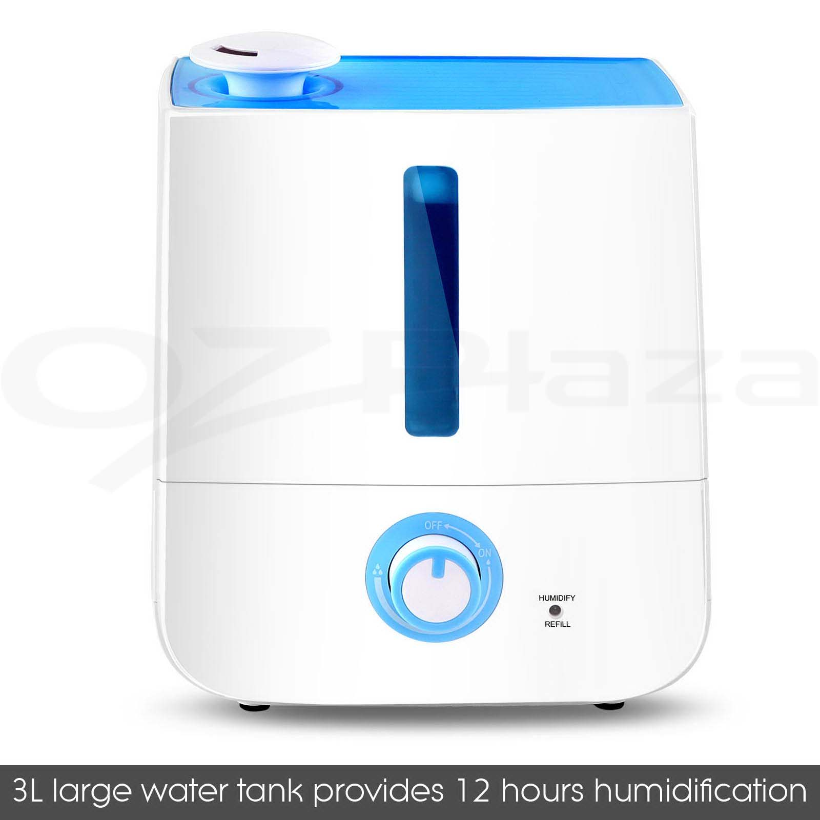 3l air humidifier ultrasonic cool mist steam nebulizer diffuser purifier ebay - Humidifier l air naturellement ...
