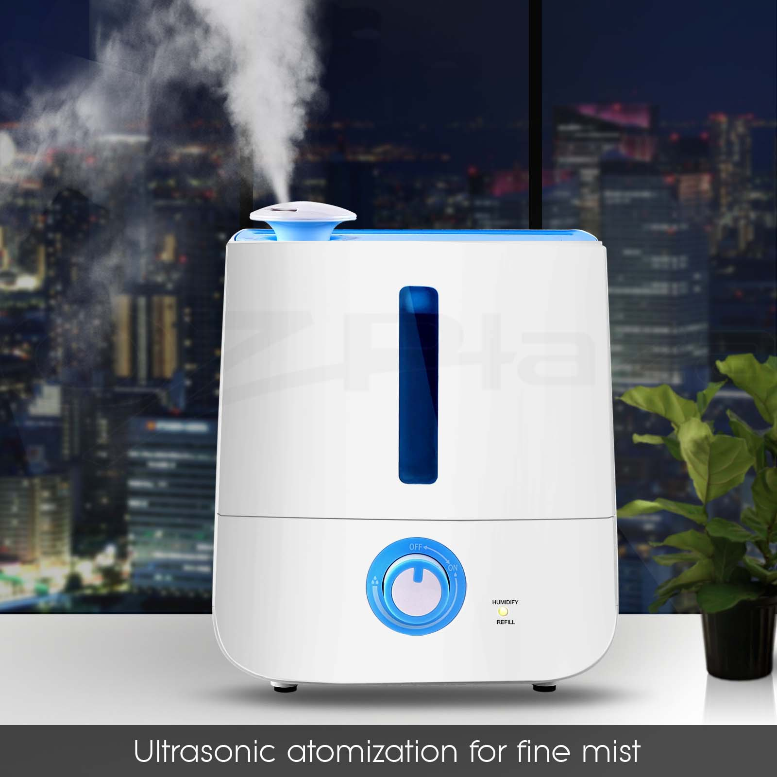 3l air humidifier ultrasonic cool mist steam nebulizer diffuser purifier ebay. Black Bedroom Furniture Sets. Home Design Ideas