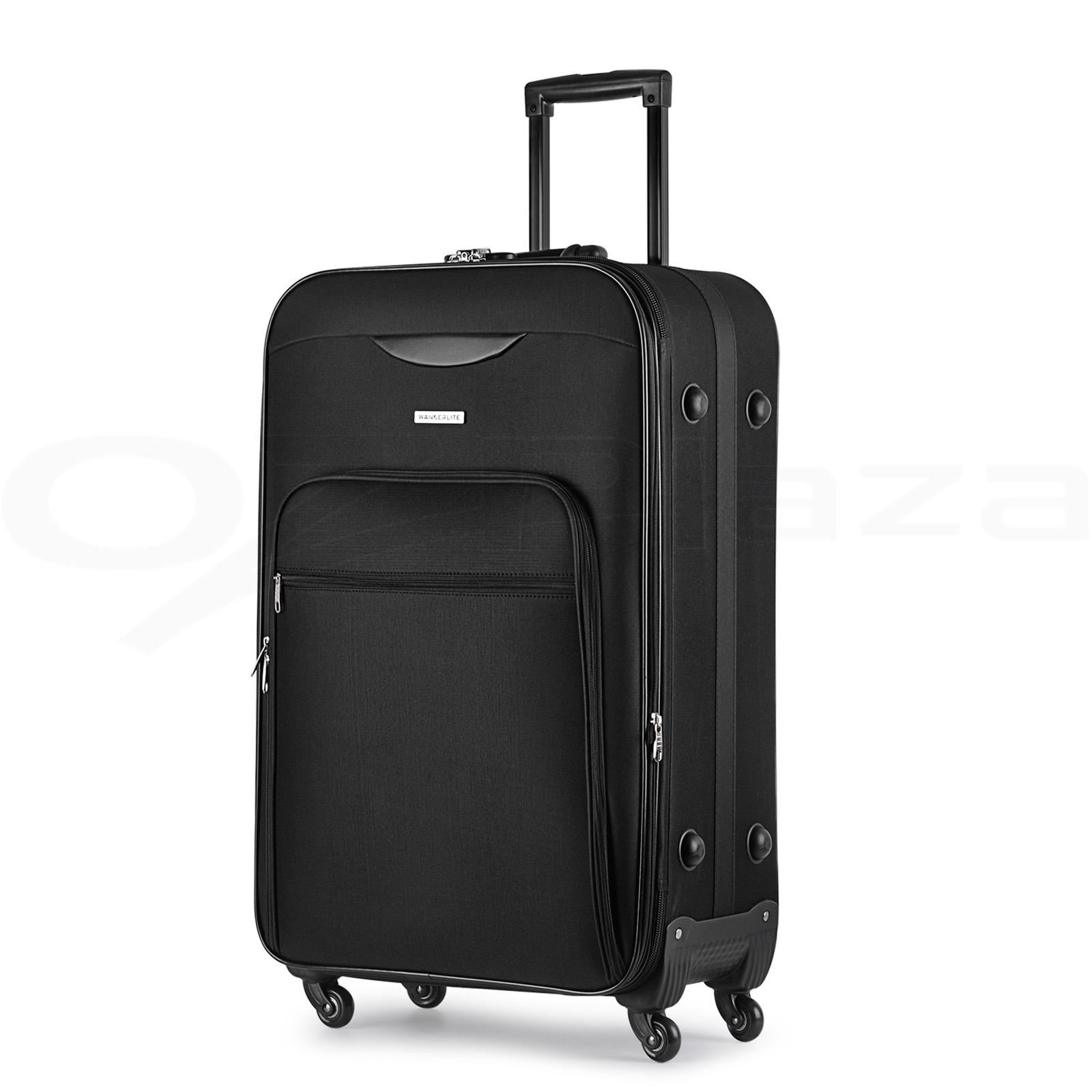 Luggage Suitcase Trolley Set Tsa Carry On Bag Soft Case Lightweight Aluminum Ebay