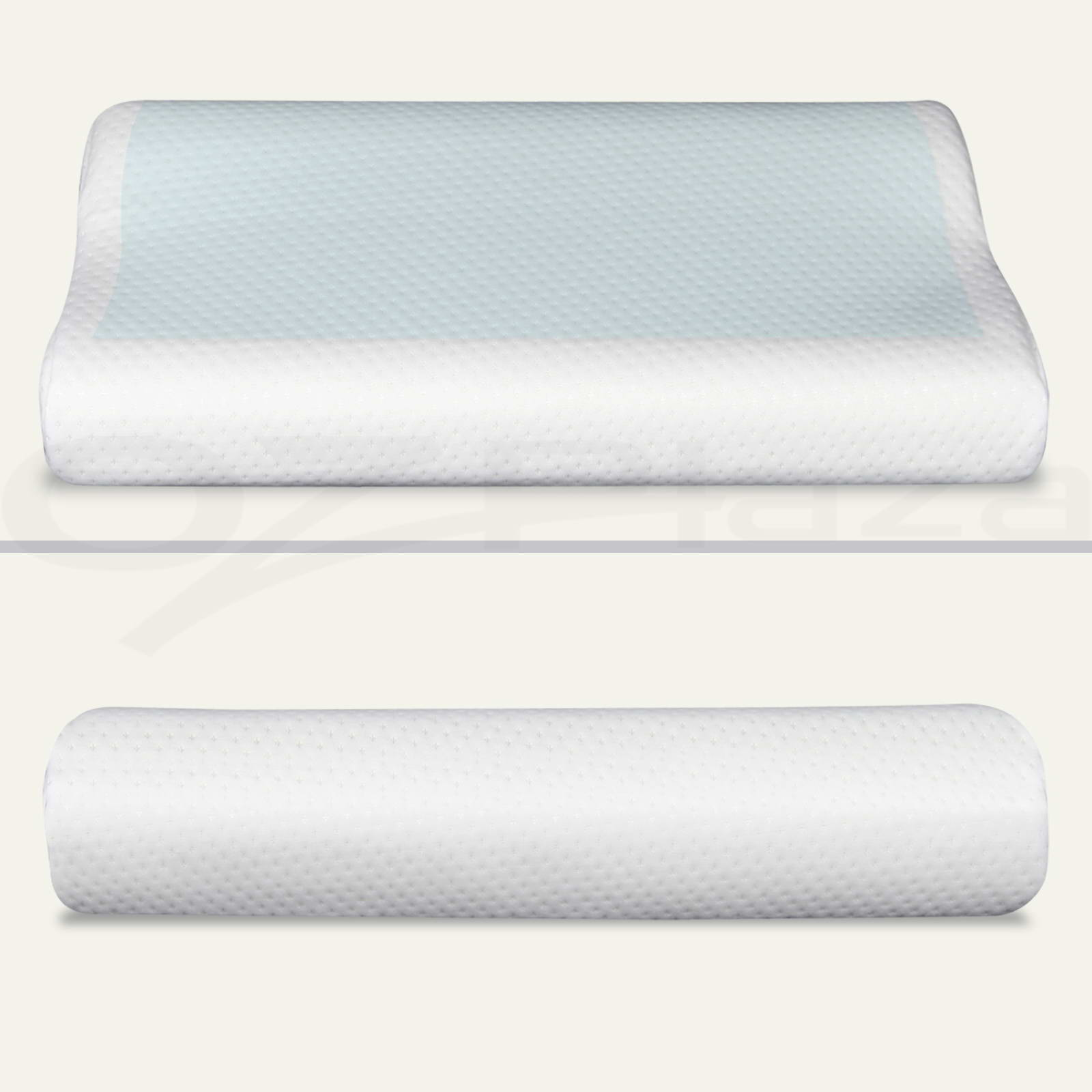 Spa Supreme Traditional Memory Foam Pillow : 2x Supreme High Density Memory Foam Pillow Contour Cool Gel Home Hotel Top Cover eBay