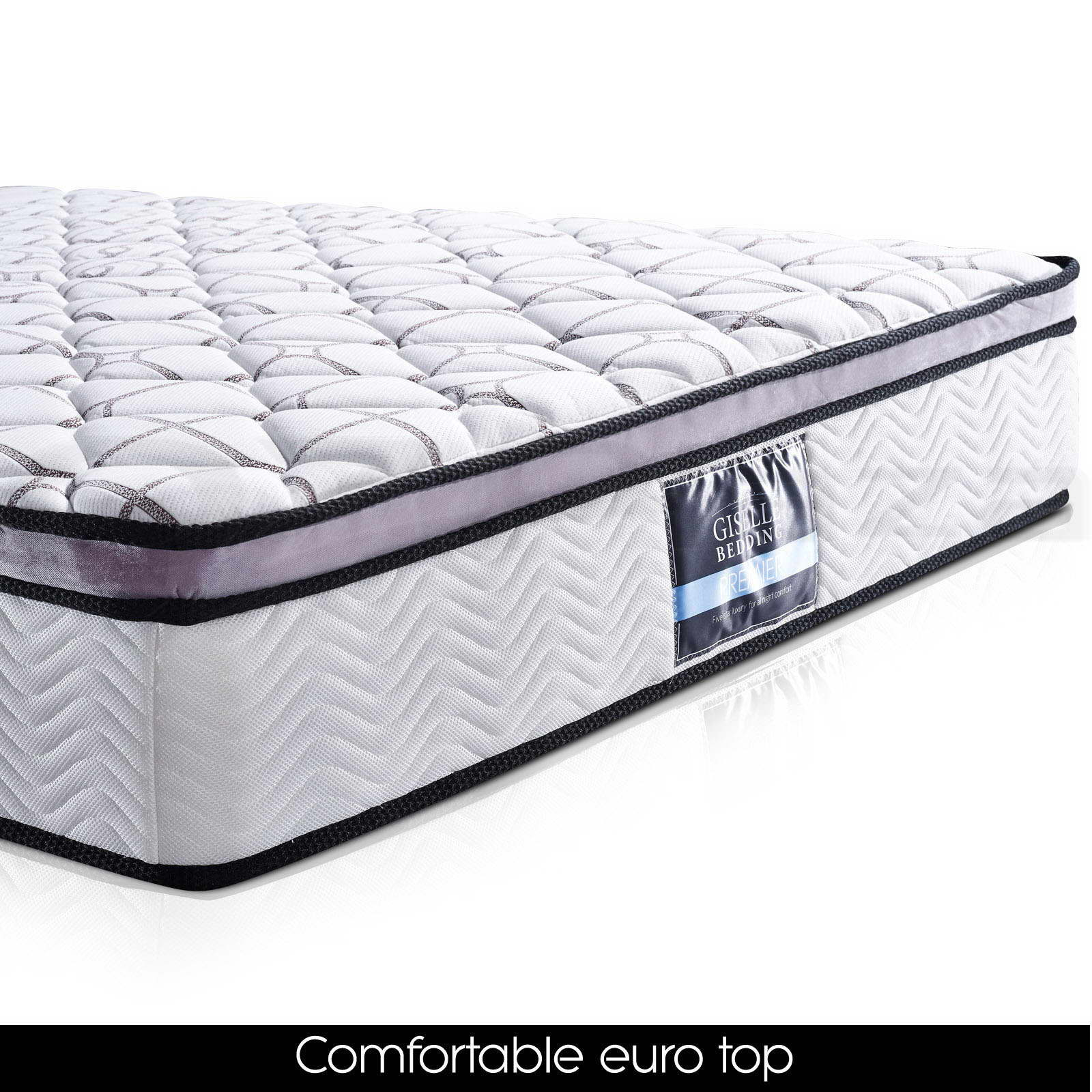 Queen double king single mattress 10 model euro pillow for Dual pillow top mattress