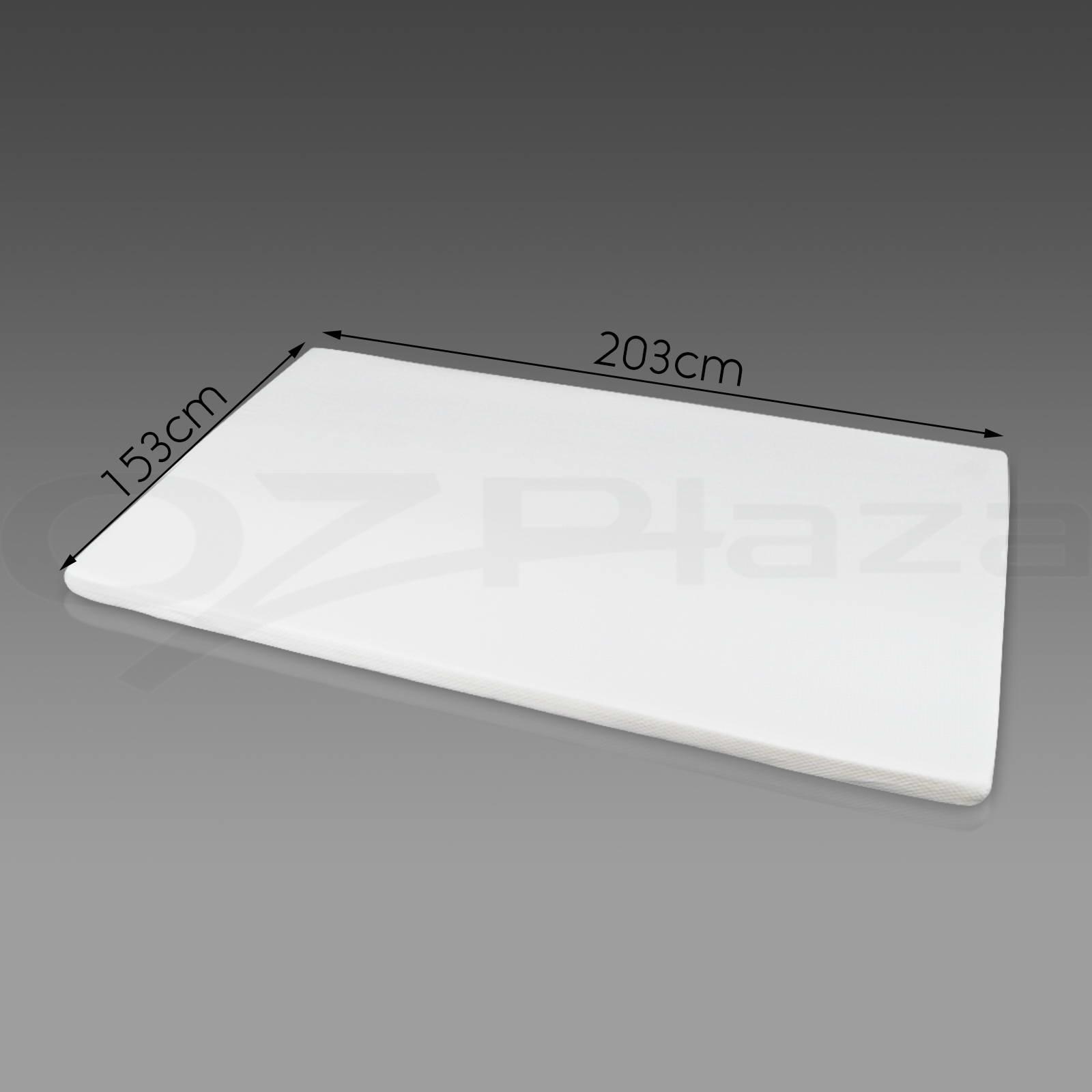 Memory Foam Mattress Topper Queen Size 5cm Visco Elastic Underlay Cover Ebay