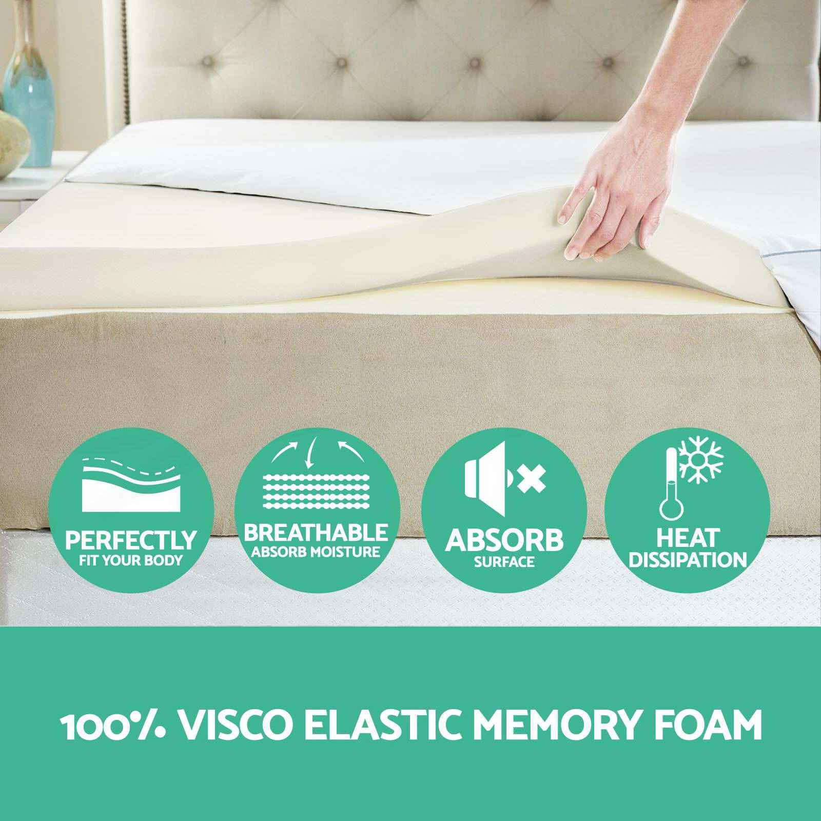 Memory Foam Mattress Topper Single Size 8cm Visco Elastic Underlay High Density Ebay