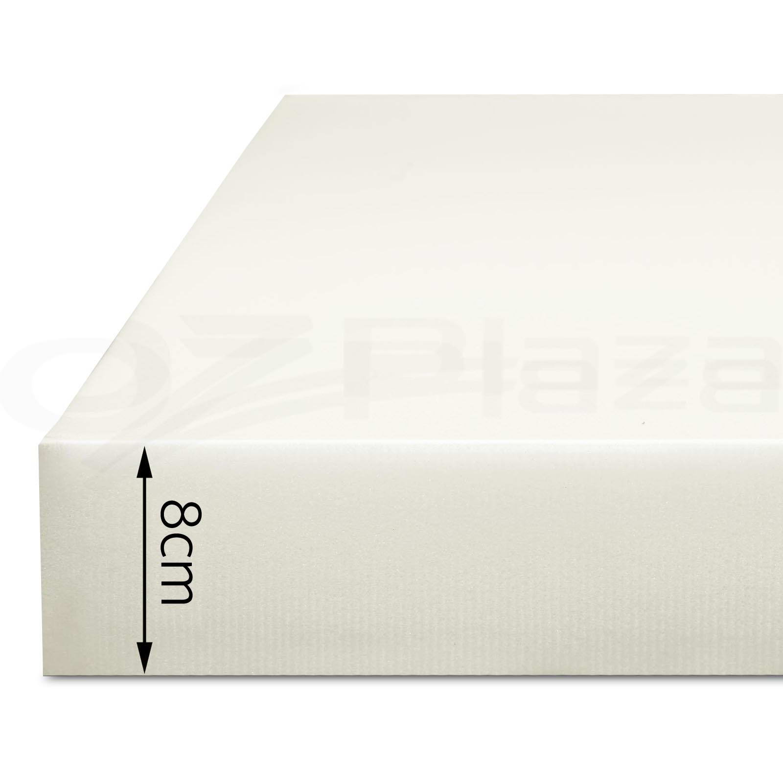 Memory Foam Mattress Topper Single Size 8cm Visco Elastic Underlay High Density Aud