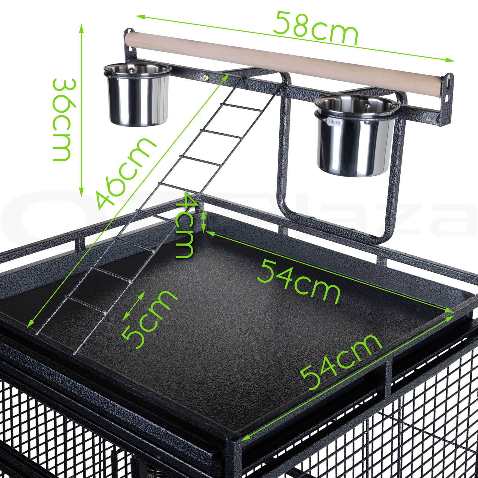 bird cage parrot aviary pet stand alone budgie castor wheels super large 170cm aud. Black Bedroom Furniture Sets. Home Design Ideas