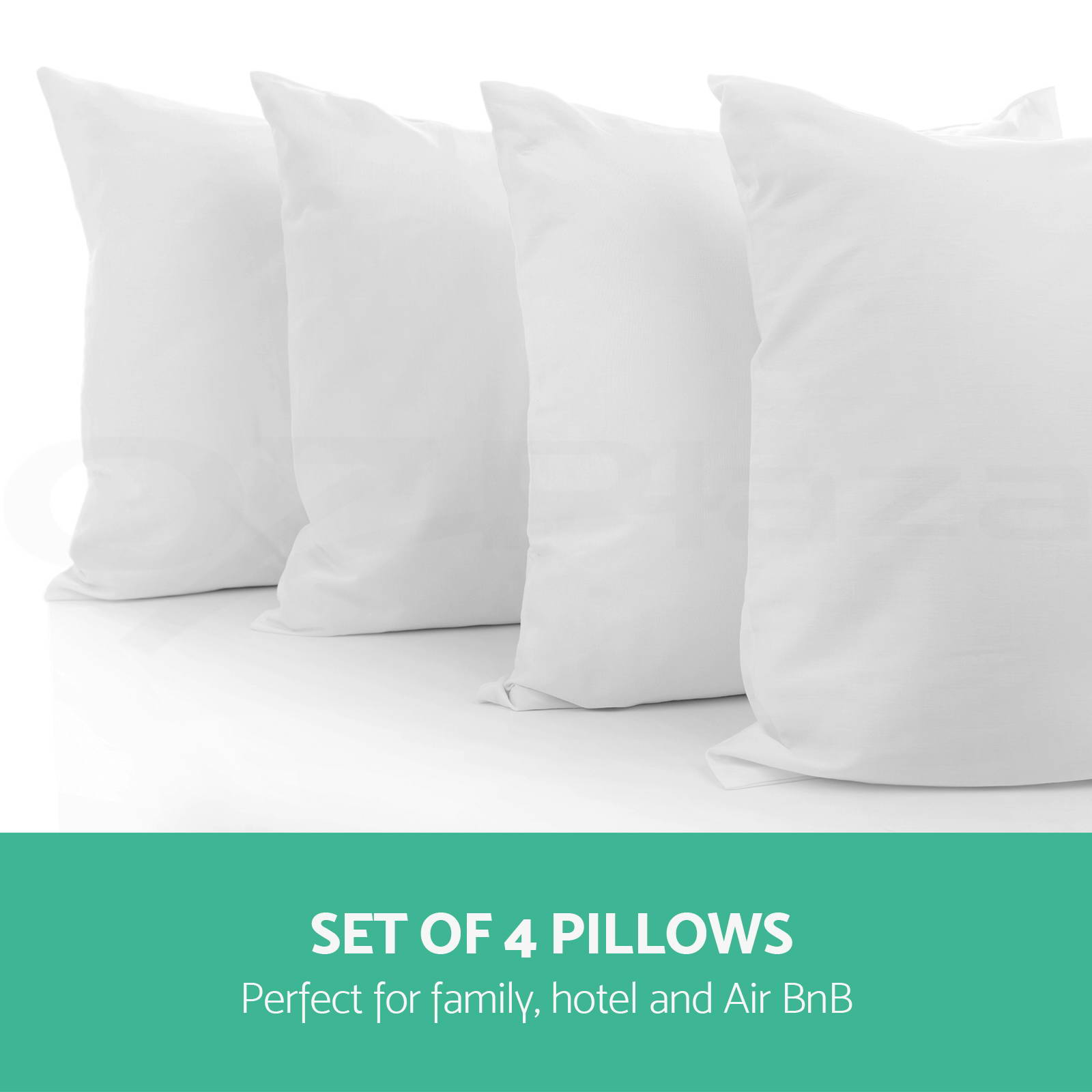 family 4 pack bed pillows soft medium firm cotton cover